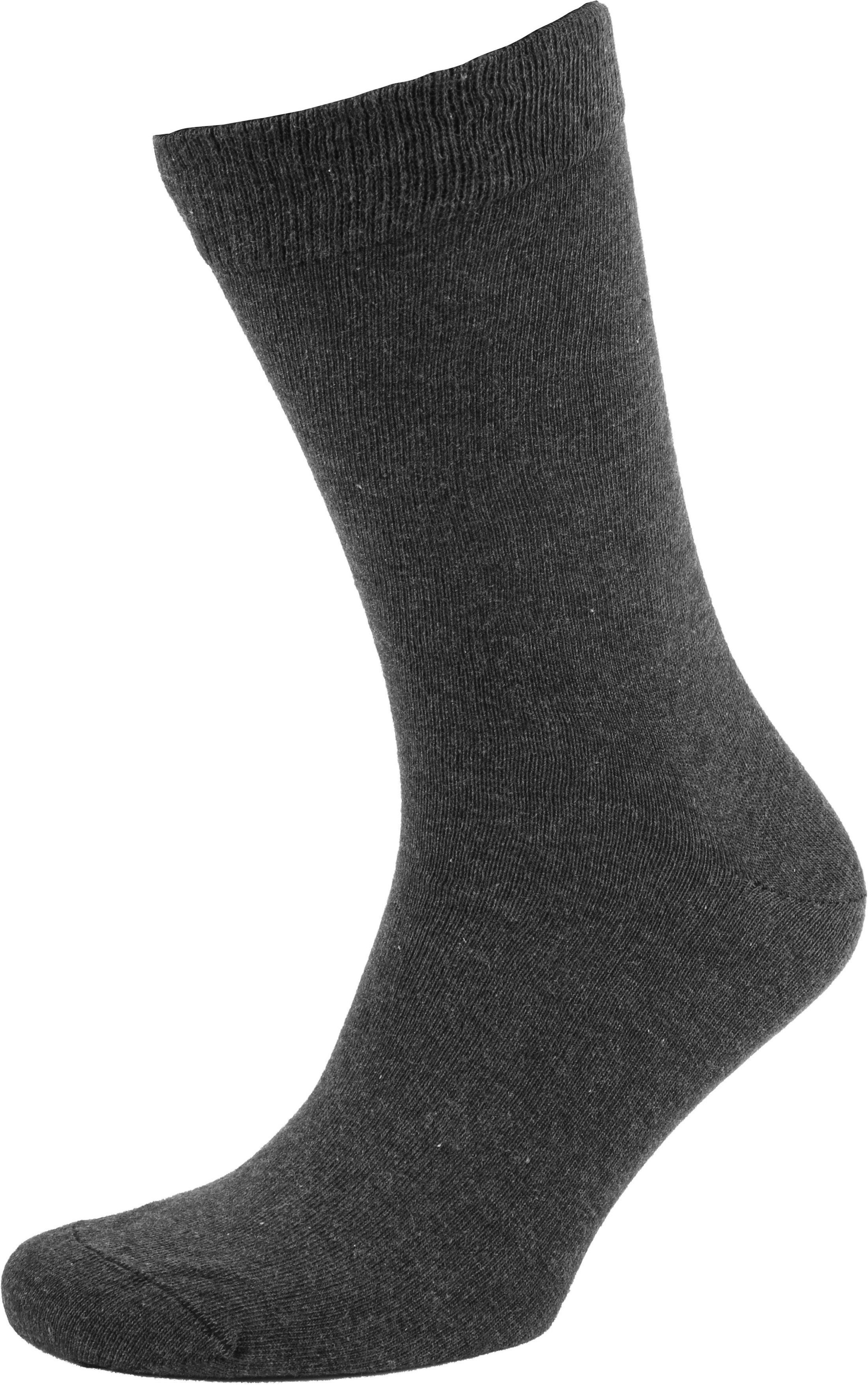 Suitable Bio-Baumwolle Socken Dunkelgrau 6-Pack foto 2