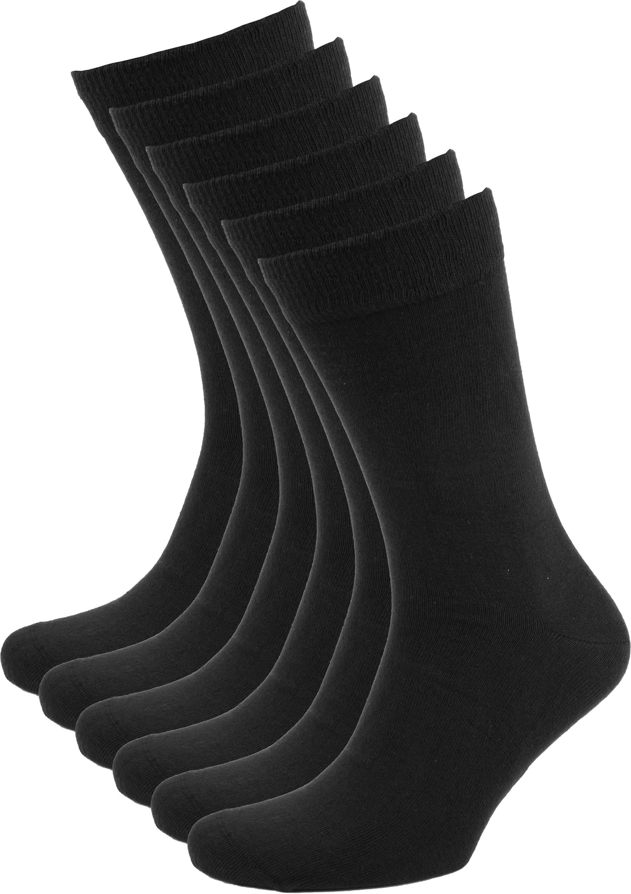 Suitable Bio-Baumwolle Socken Schwarz 6-Pack foto 0