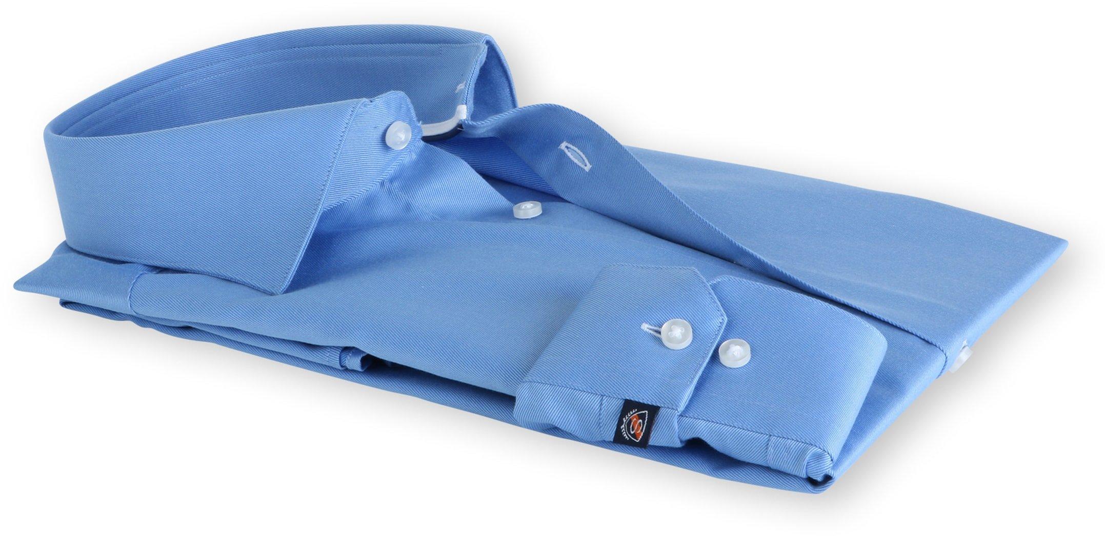 Suitable Blauw Overhemd Slim Fit DR-02 foto 1