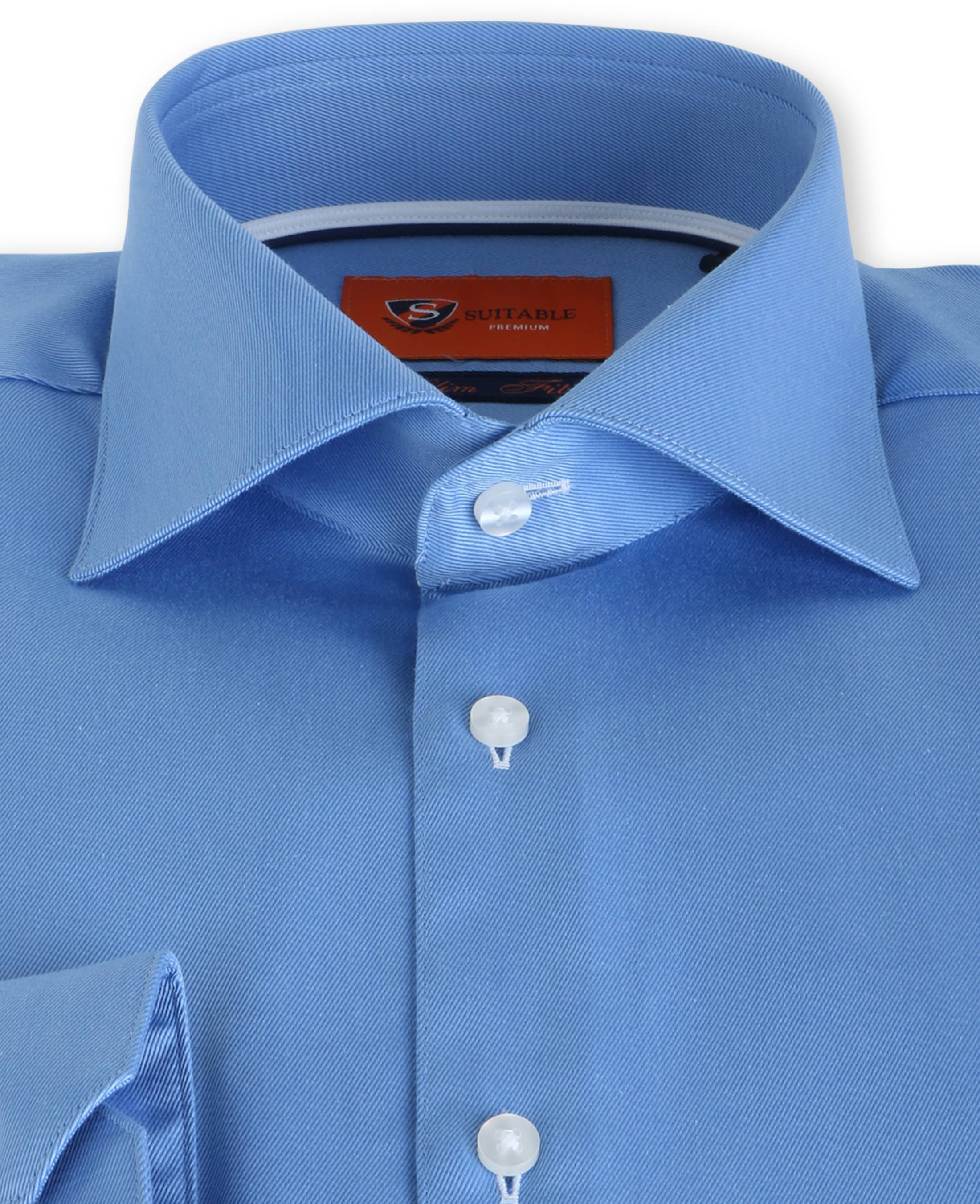 Suitable Blauw Overhemd Slim Fit DR-02 foto 2