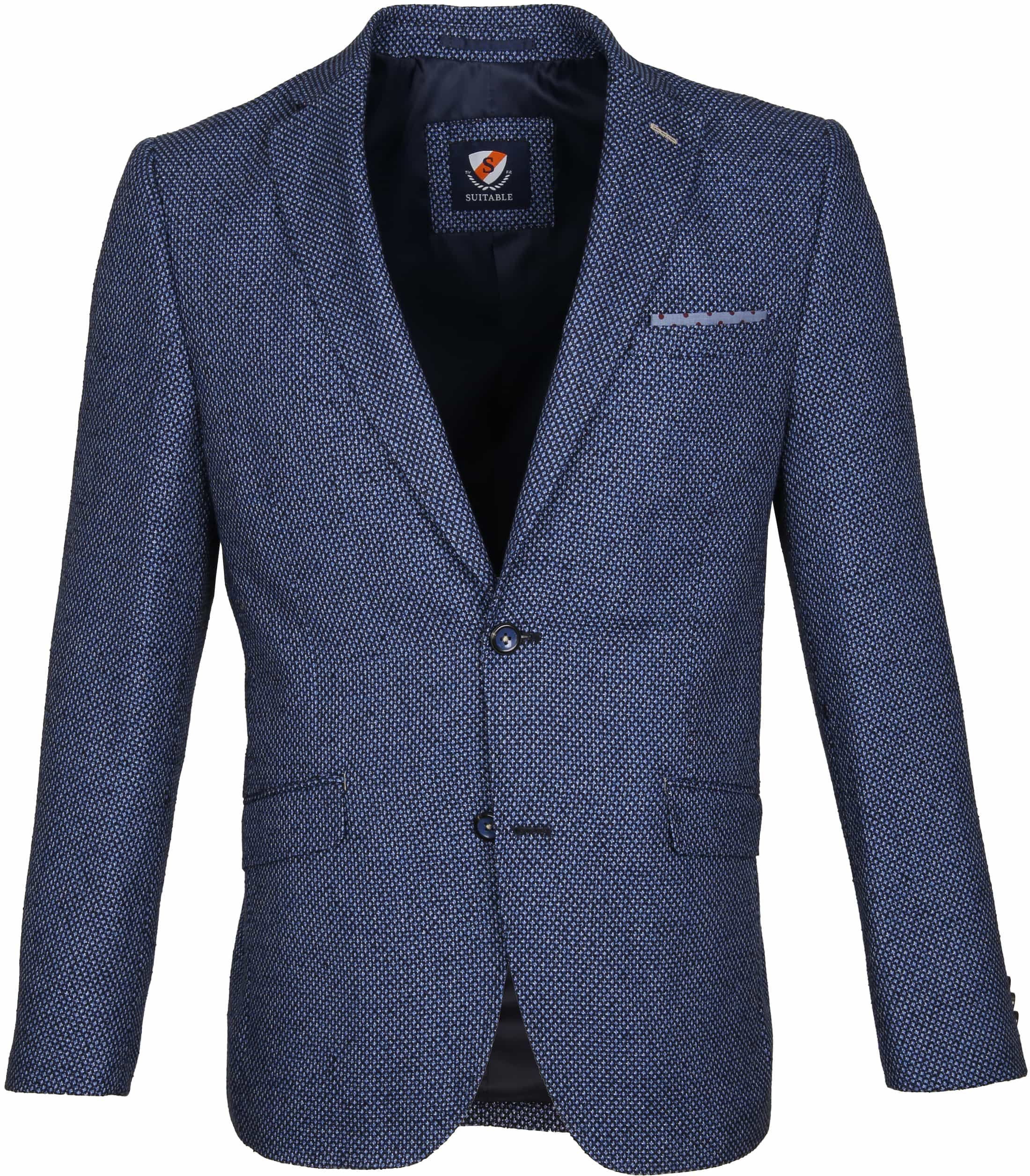 Suitable Blazer Art Dessin Navy foto 0
