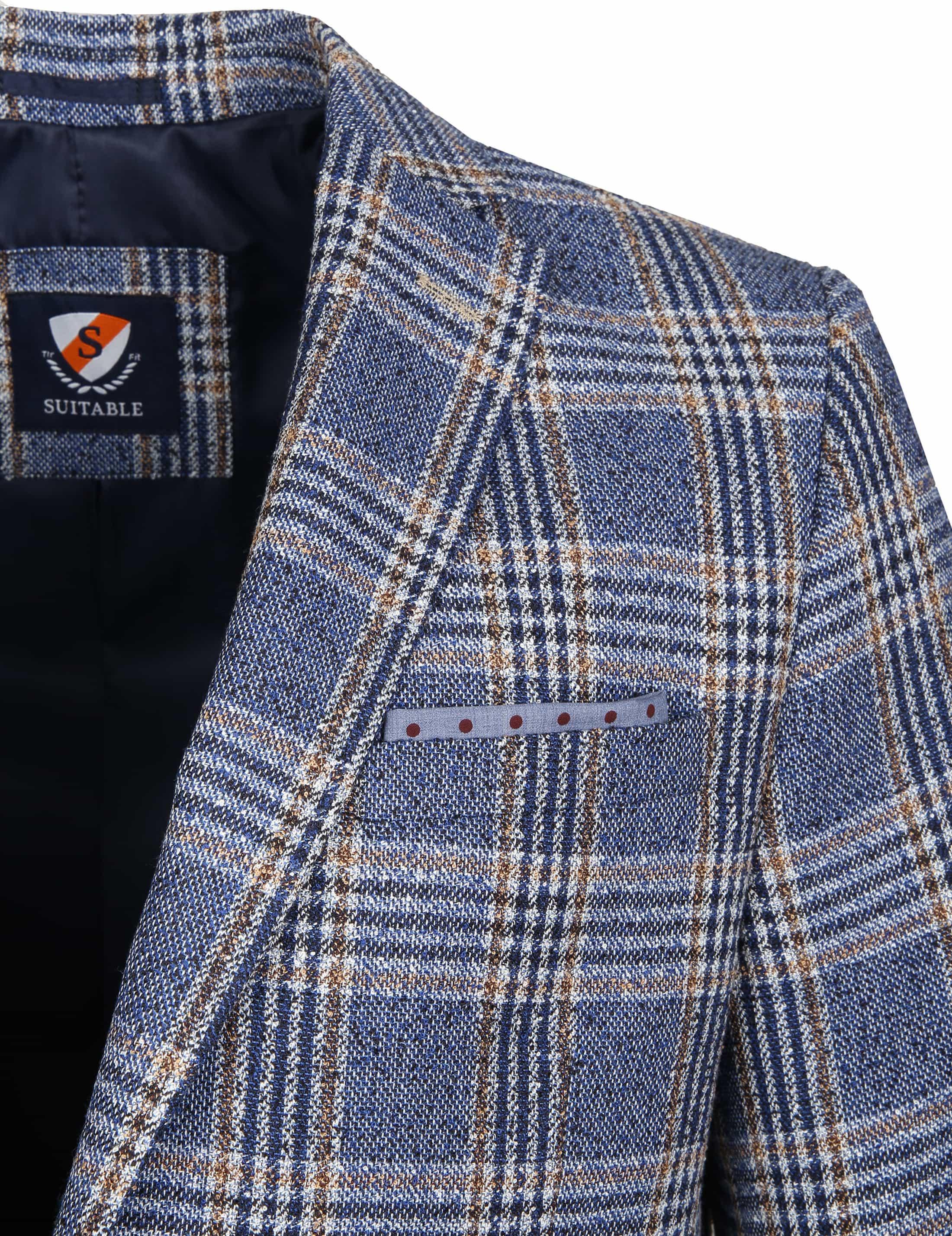 Suitable Blazer Art Karo Blau foto 1