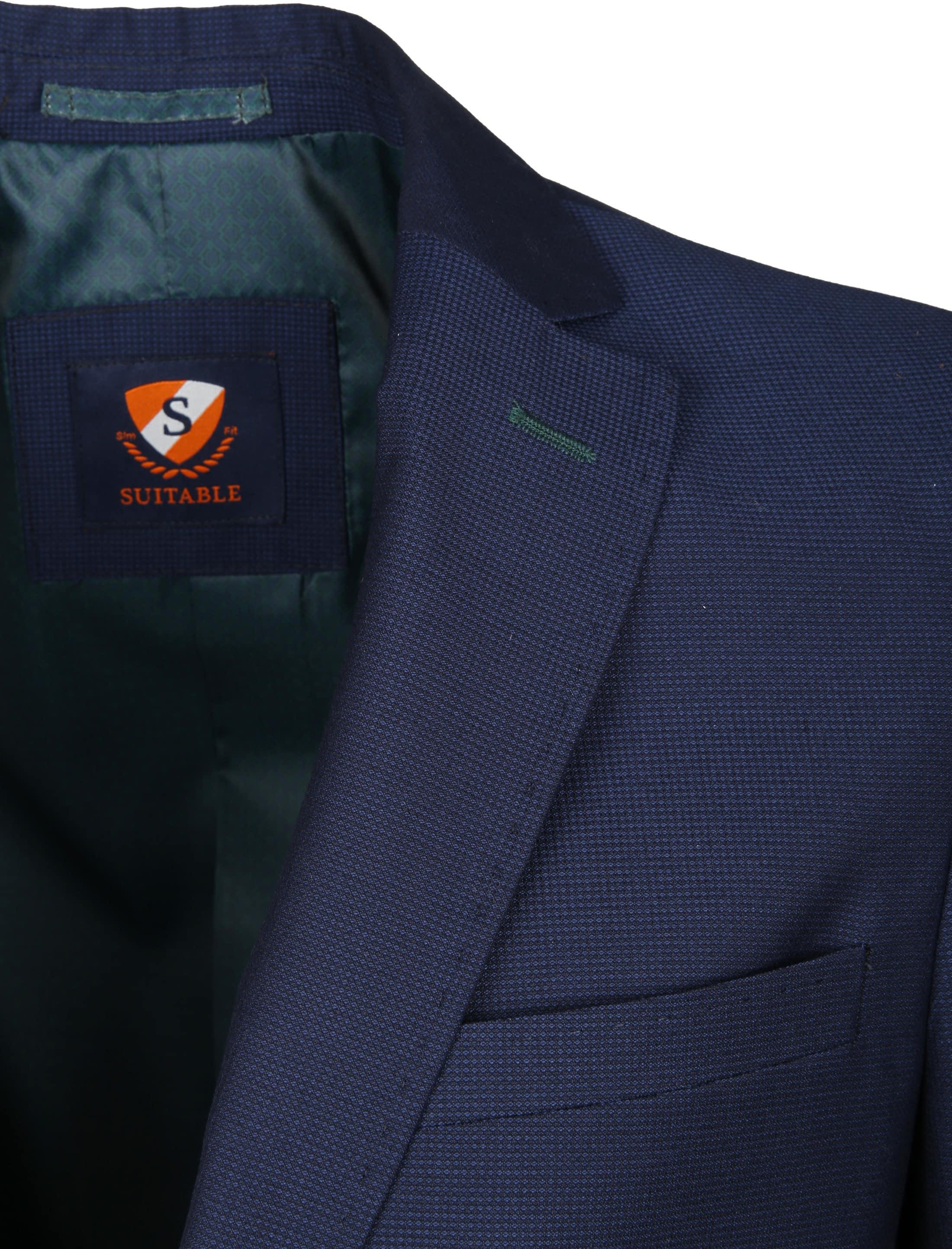 Suitable Blazer Art Pinpoint Navy foto 1