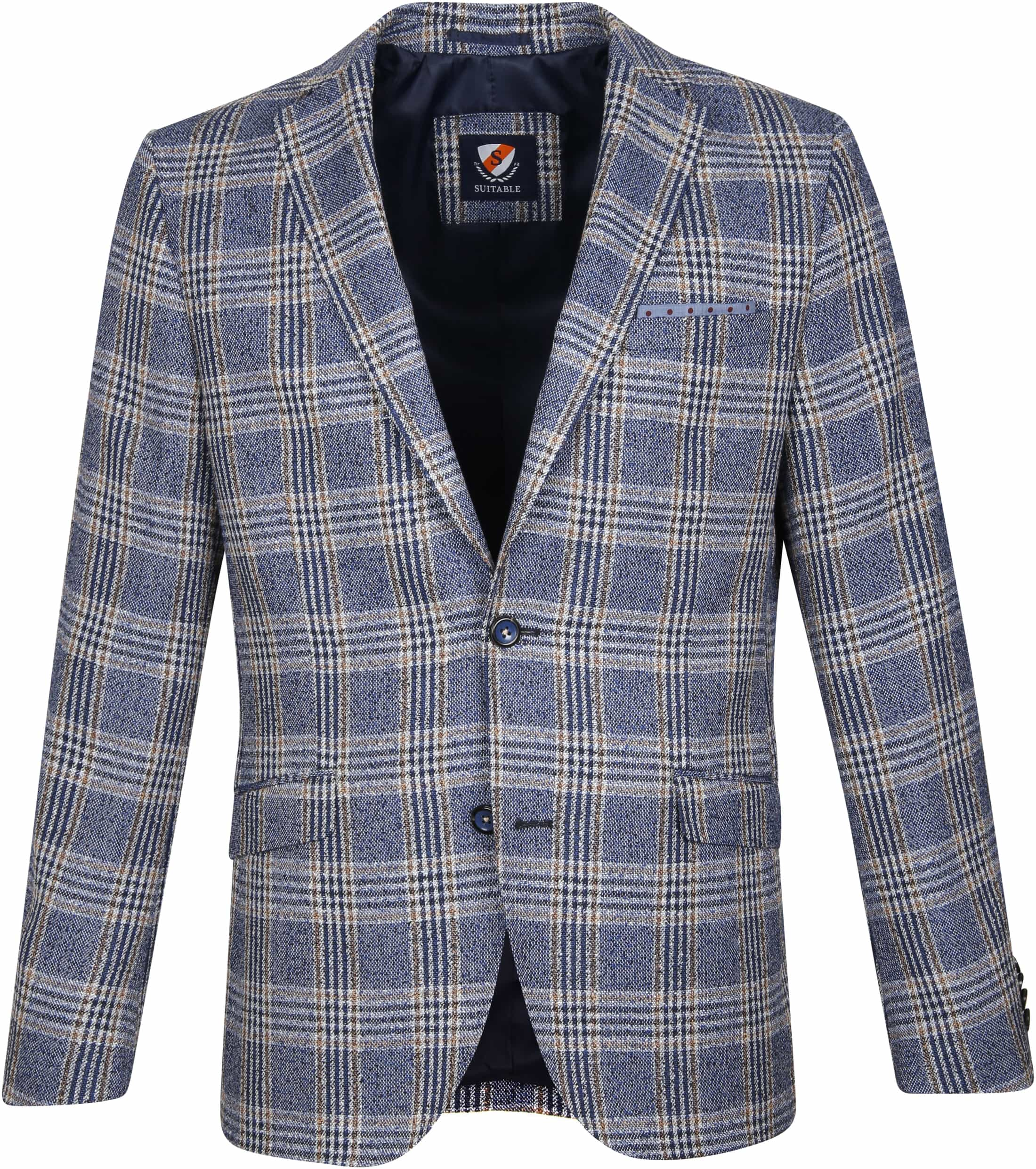 Suitable Blazer Art Ruit Blauw foto 0