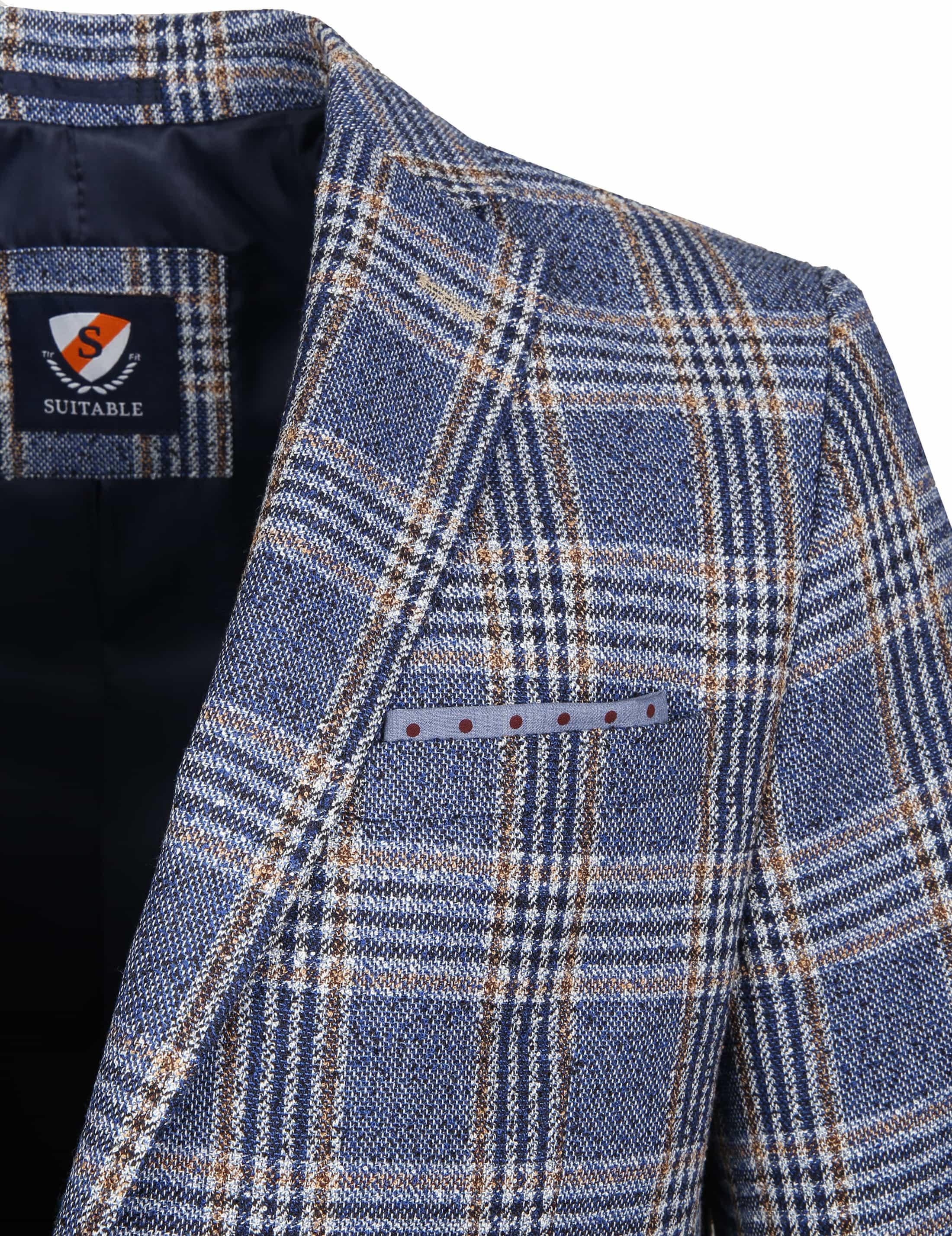 Suitable Blazer Art Ruit Blauw foto 1