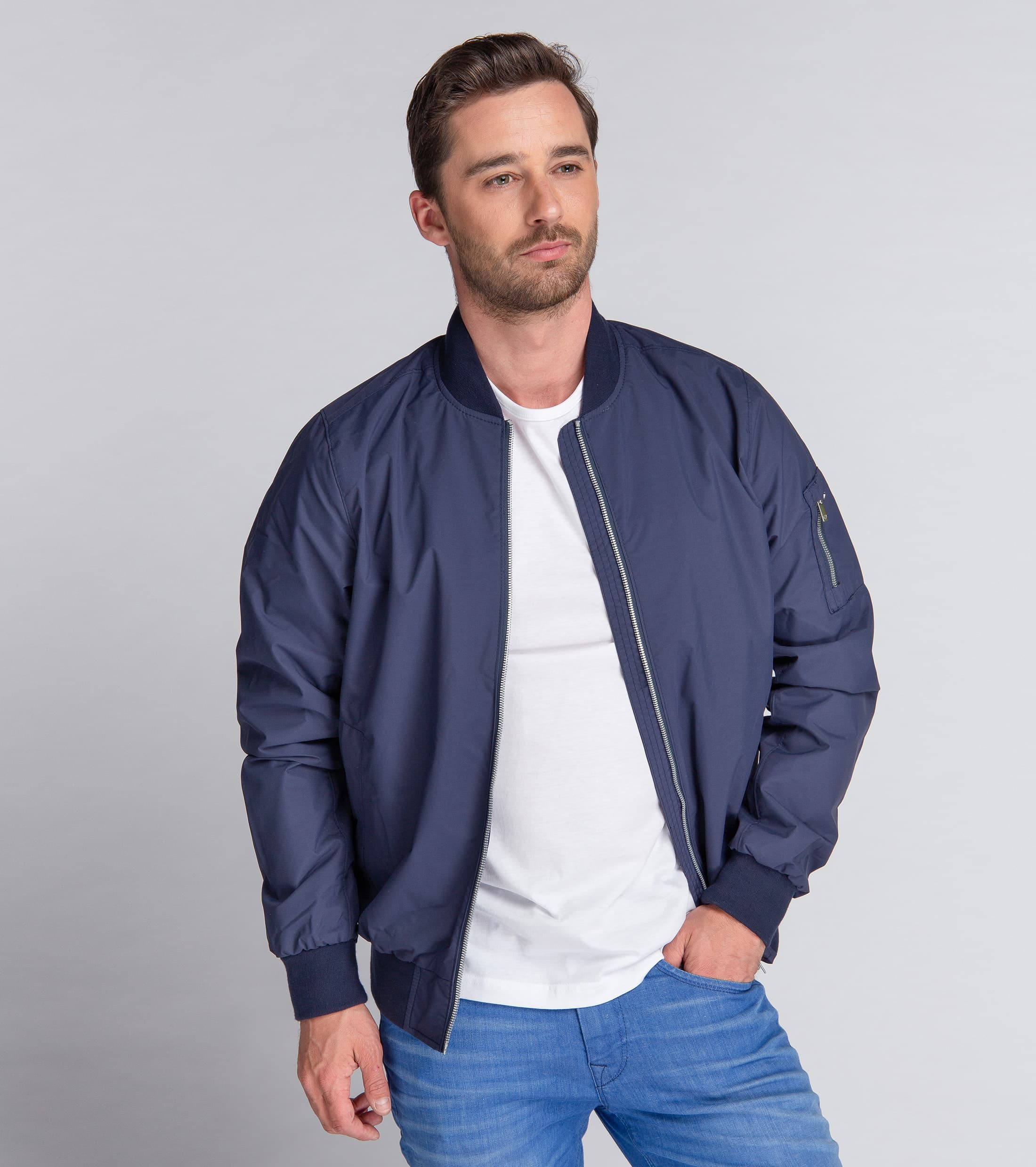 Suitable Bomber Chapron Navy foto 6