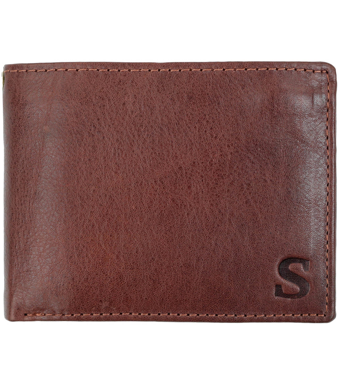Suitable Brieftasche Braunem Leder - Skim Proof