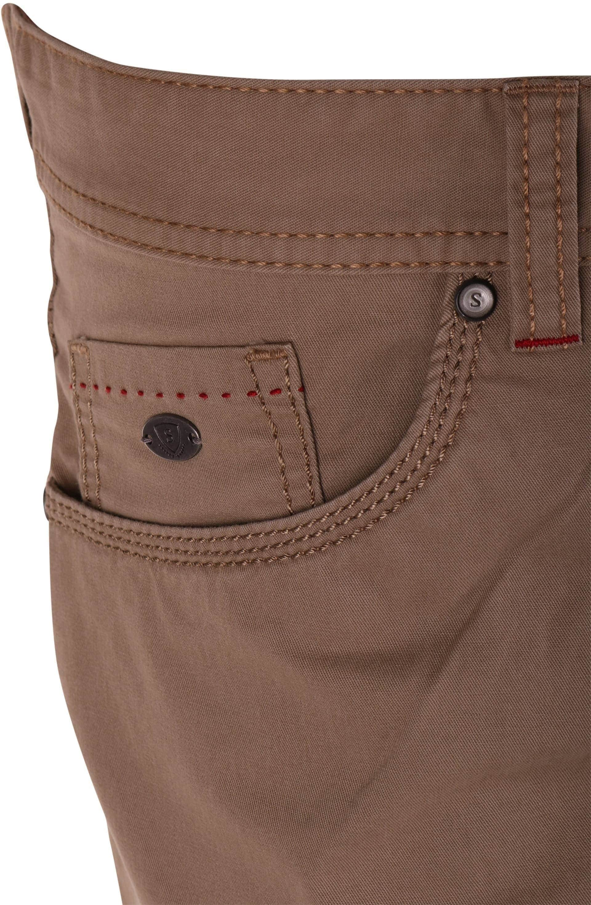 Suitable Broek Khaki foto 3