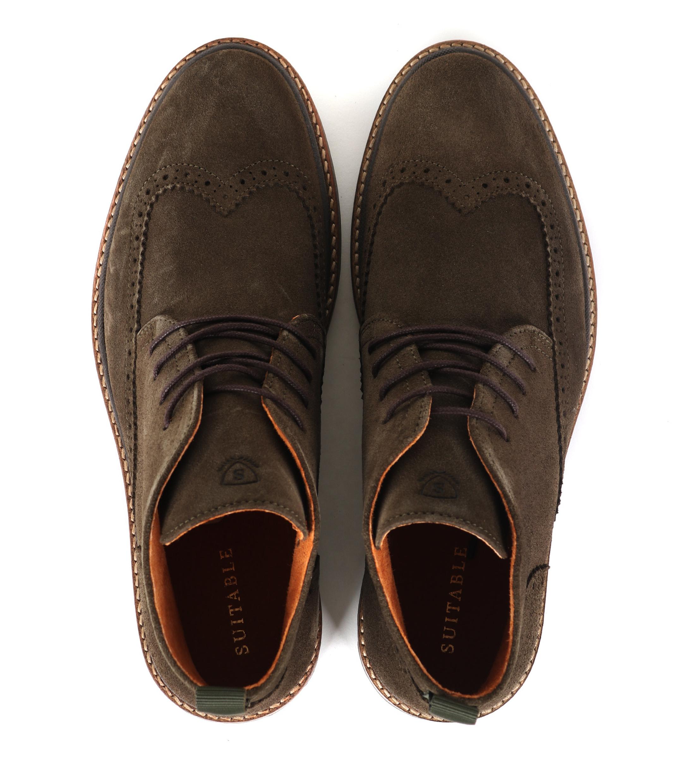 Suitable Brogue Boots Groen foto 2