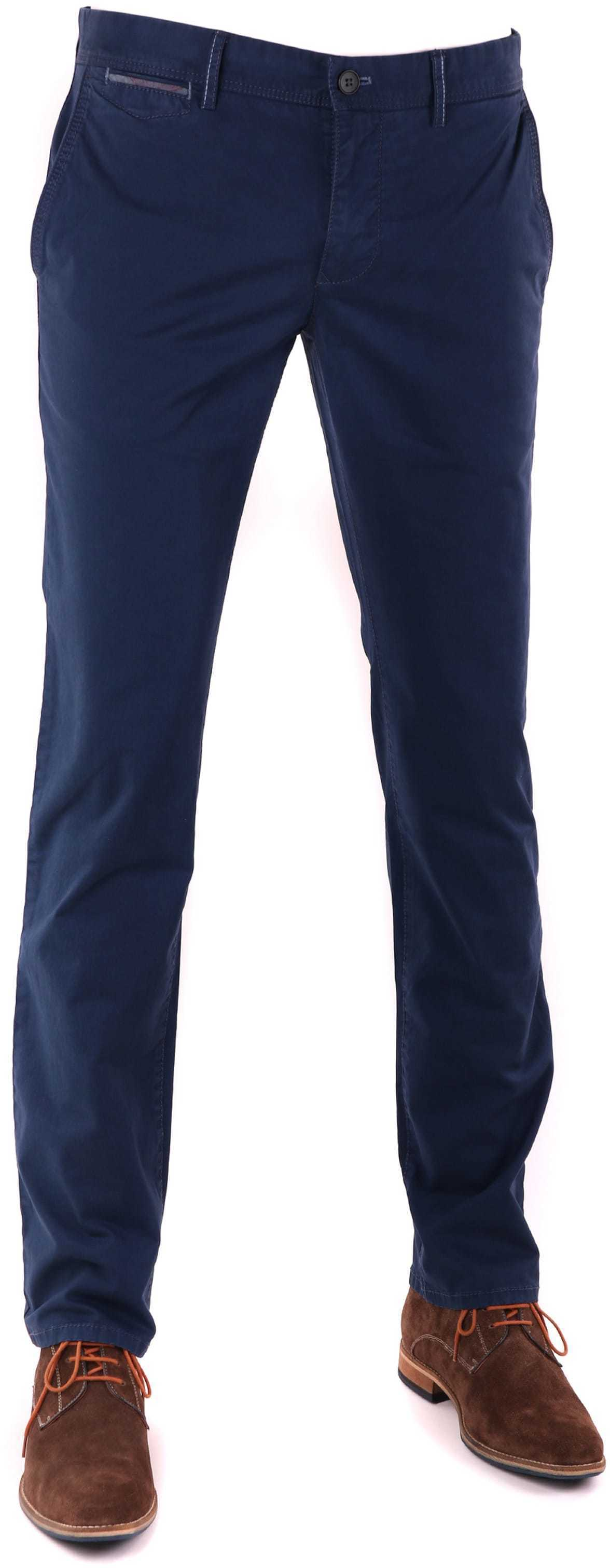 Suitable Chino Broek Dark Blue foto 0