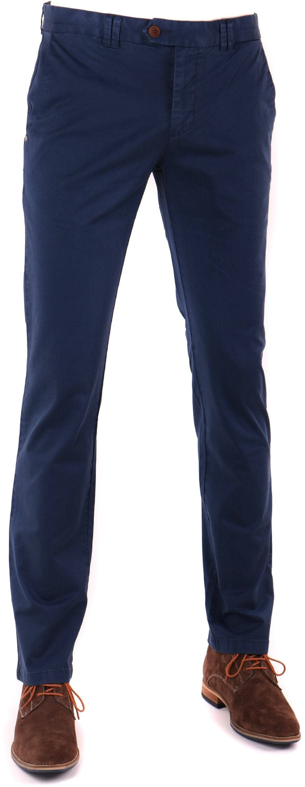 Suitable Chino Broek Donkerblauw foto 0