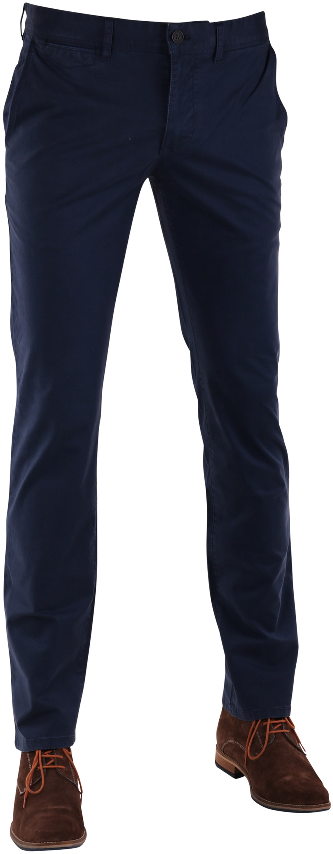 Suitable Chino Broek Donkerblauw Print foto 0