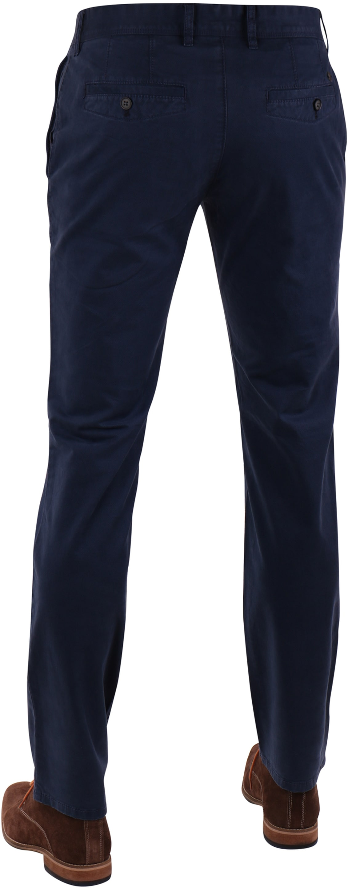 Suitable Chino Broek Donkerblauw Print foto 1