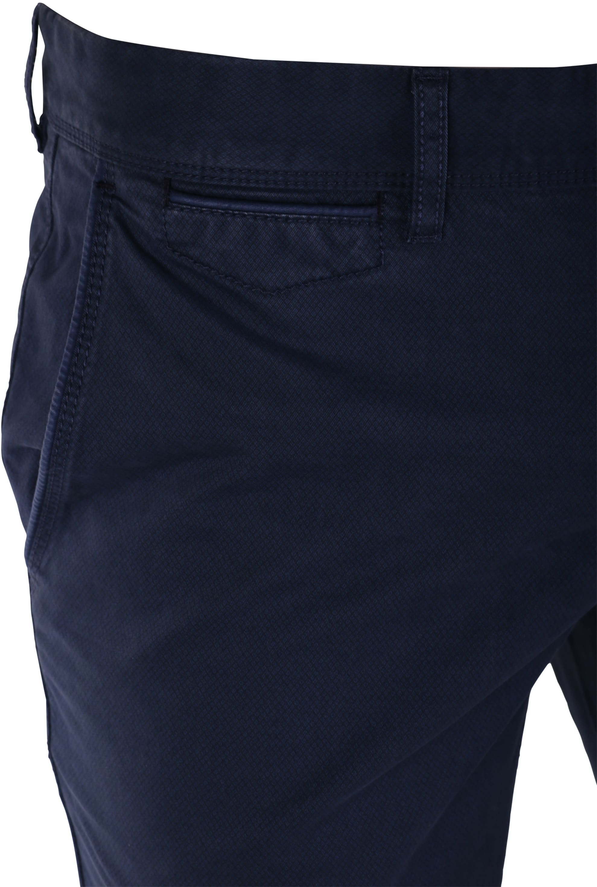 Suitable Chino Broek Donkerblauw Print foto 3
