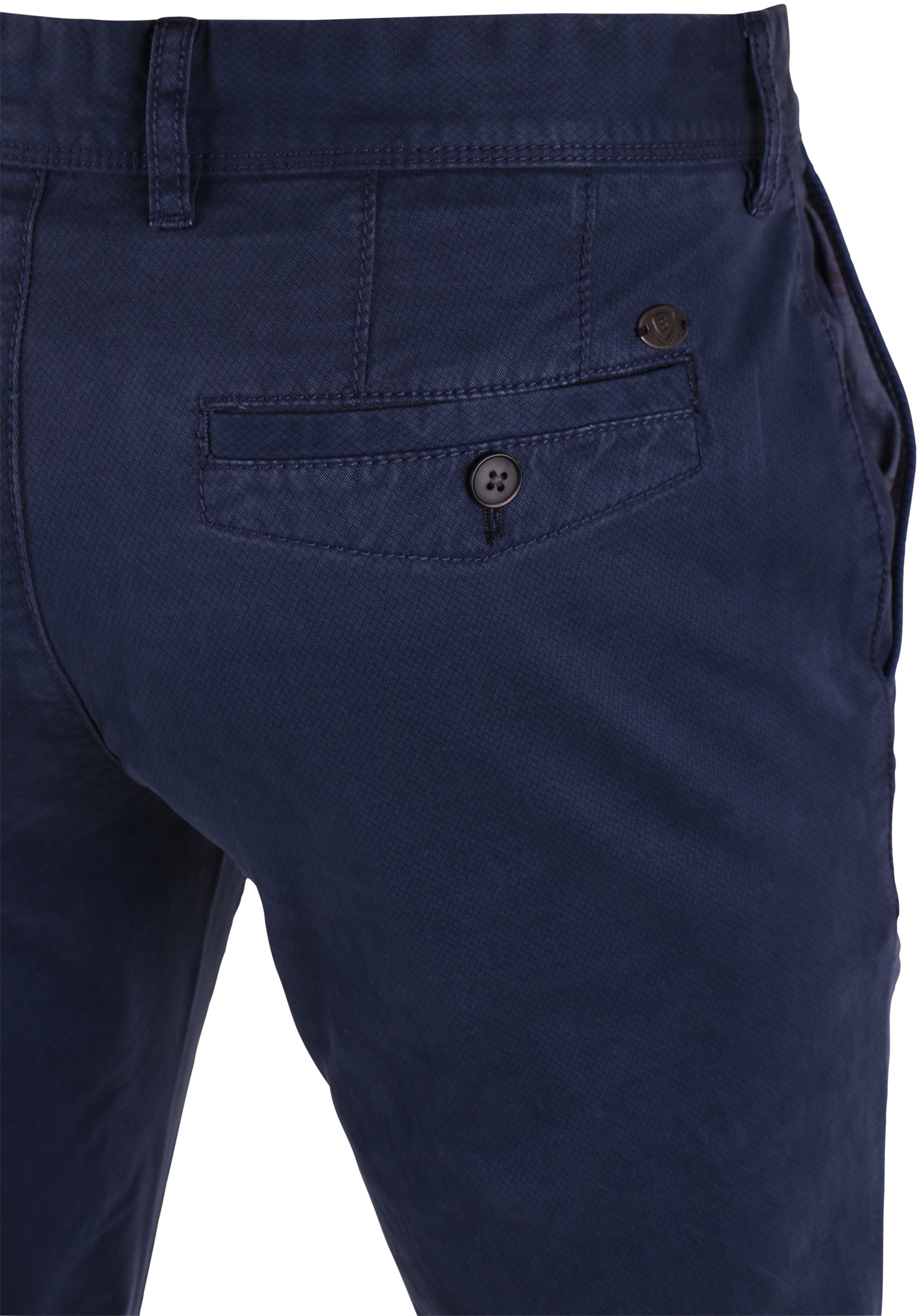 Suitable Chino Broek Donkerblauw Print foto 4