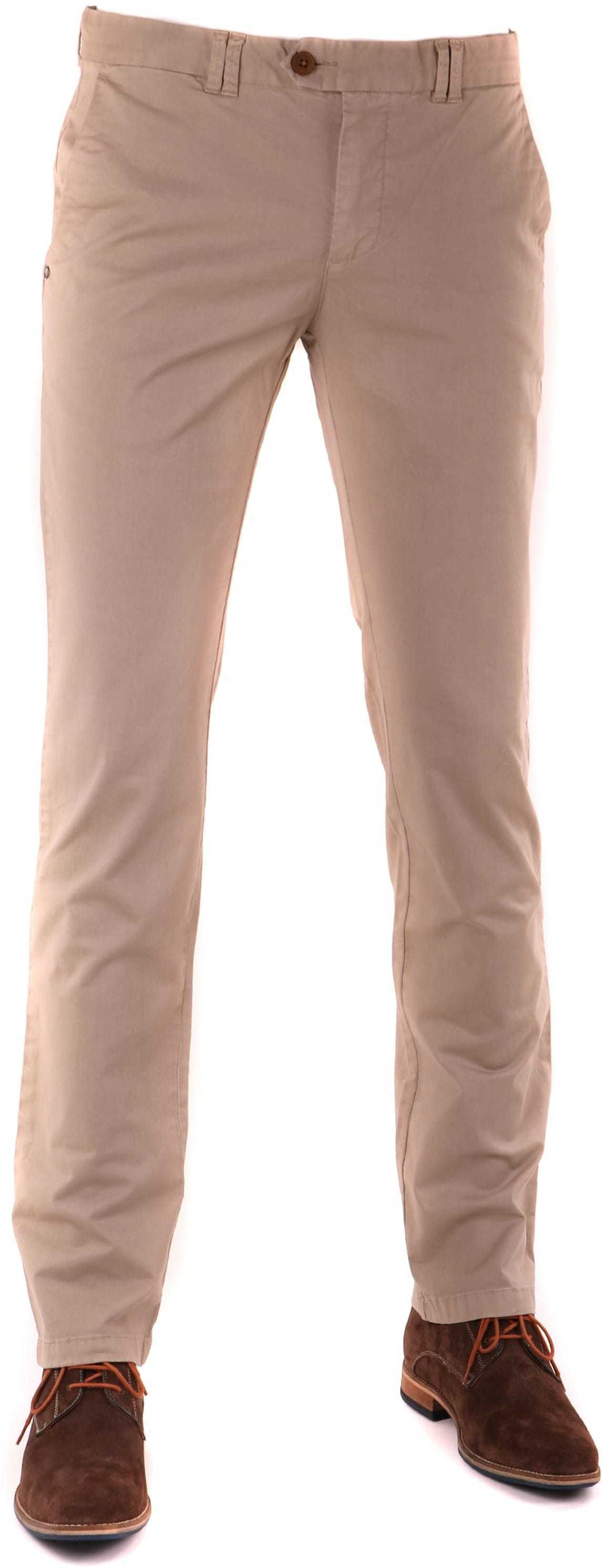 Suitable Chino Broek Khaki foto 0