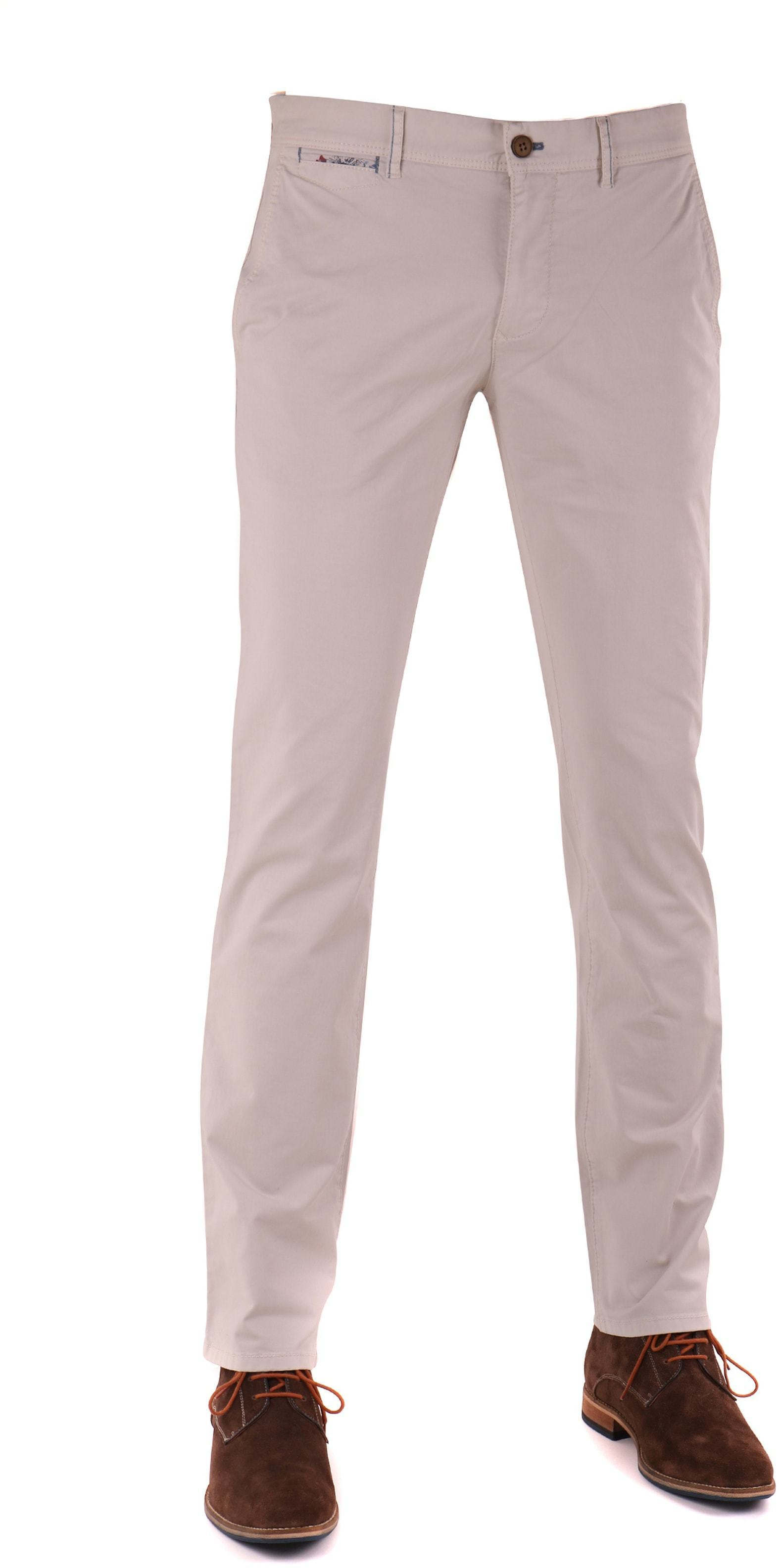 Suitable Chino Broek Off-white foto 0