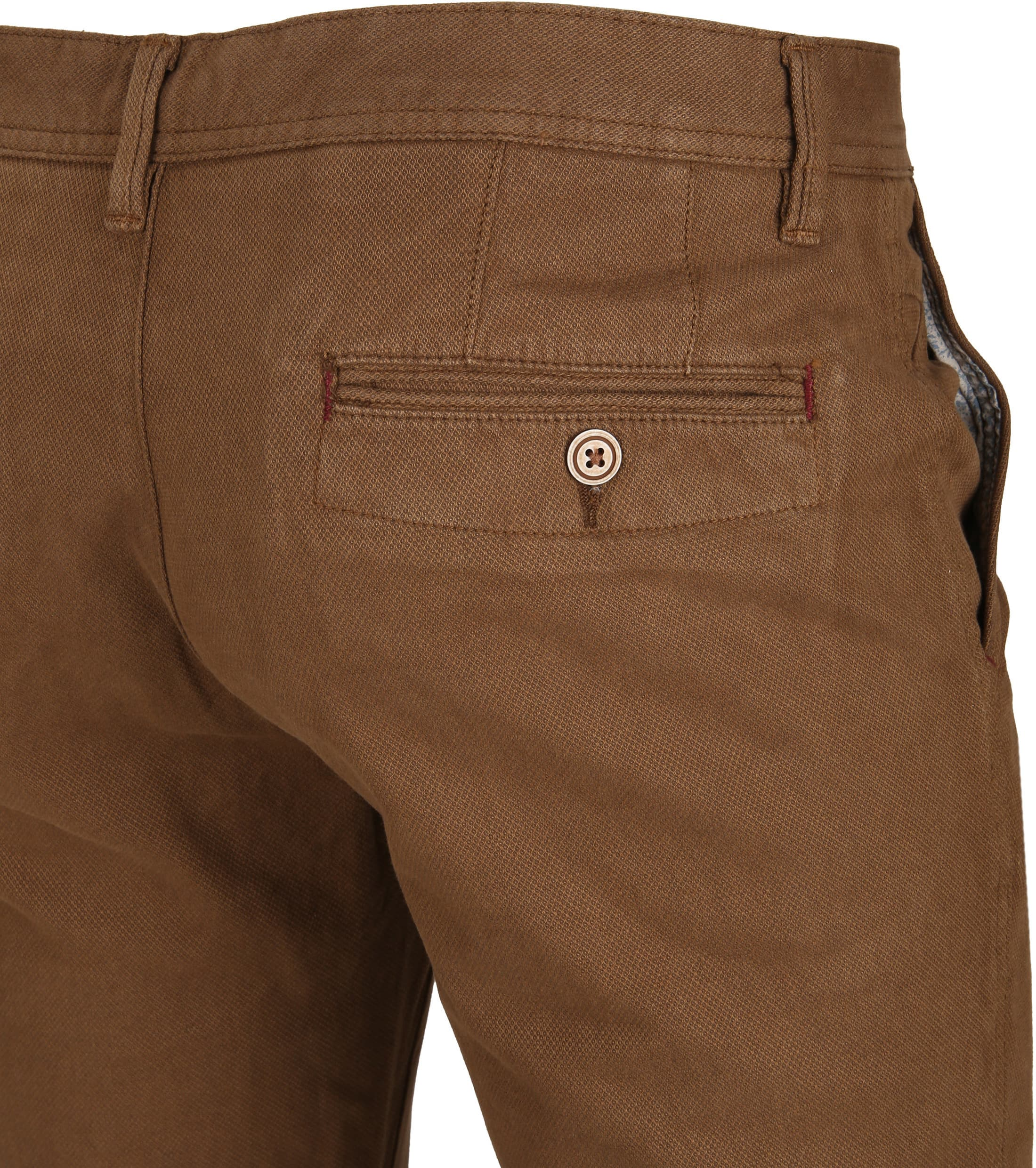 Suitable Chino Oakville Dessin Brown foto 3