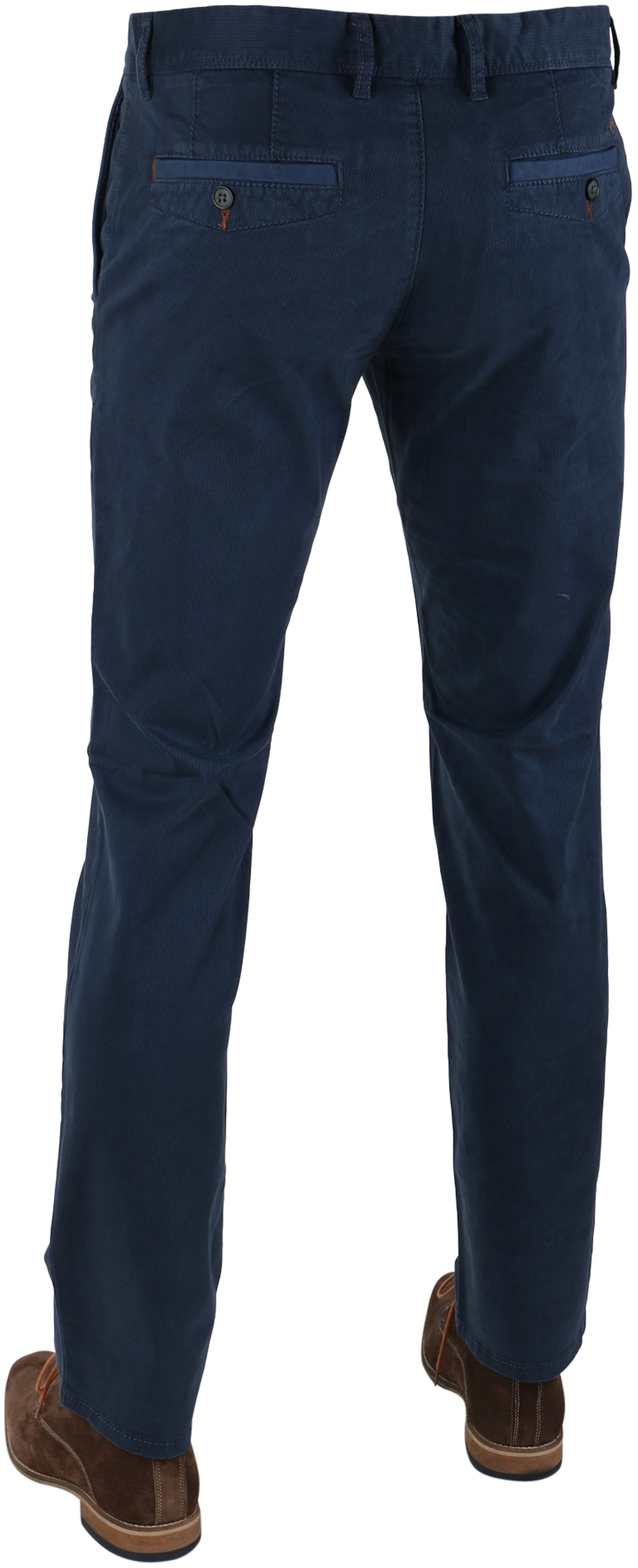 Suitable Chino Oakville Donkerblauw Print foto 1