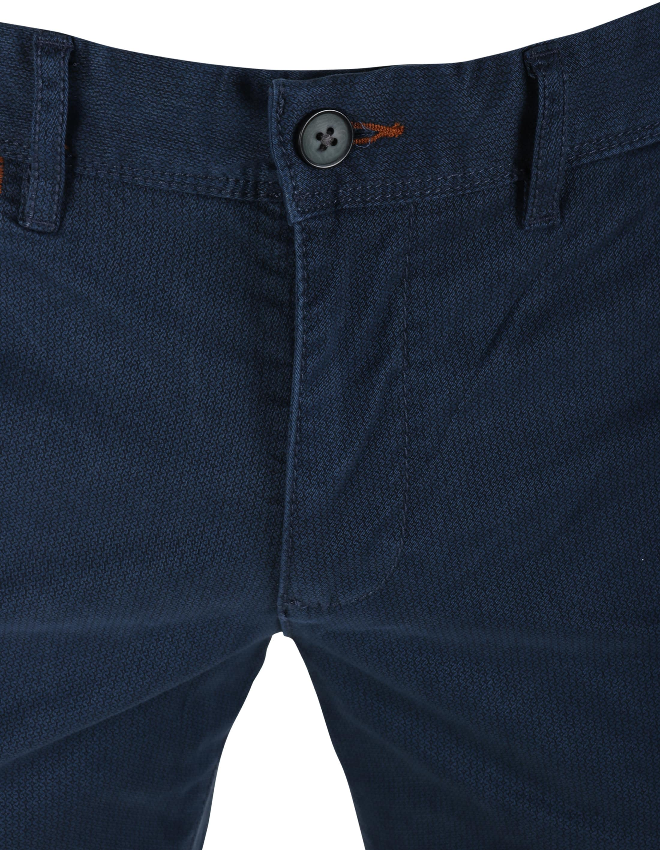 Suitable Chino Oakville Donkerblauw Print foto 2