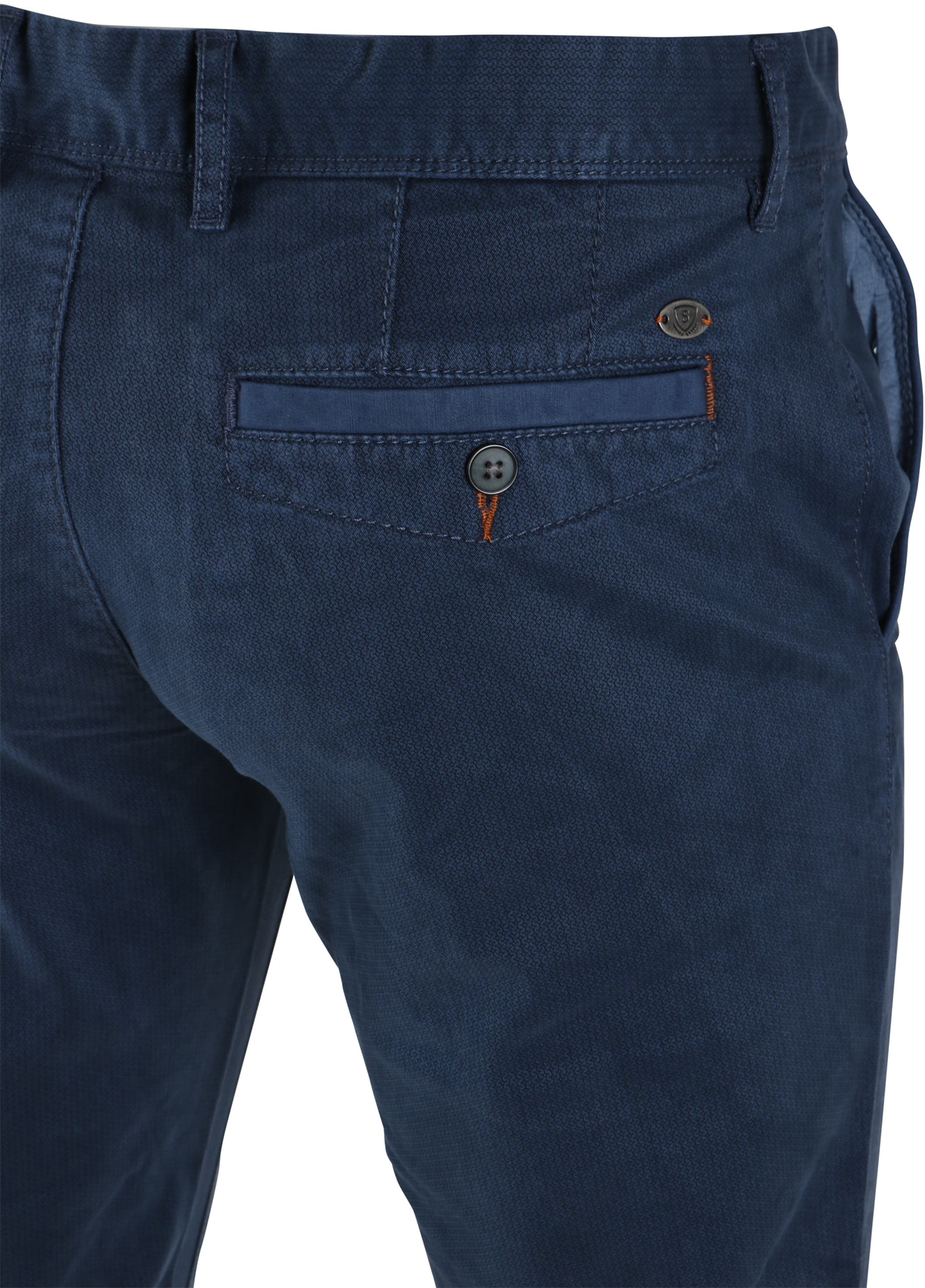 Suitable Chino Oakville Donkerblauw Print foto 3