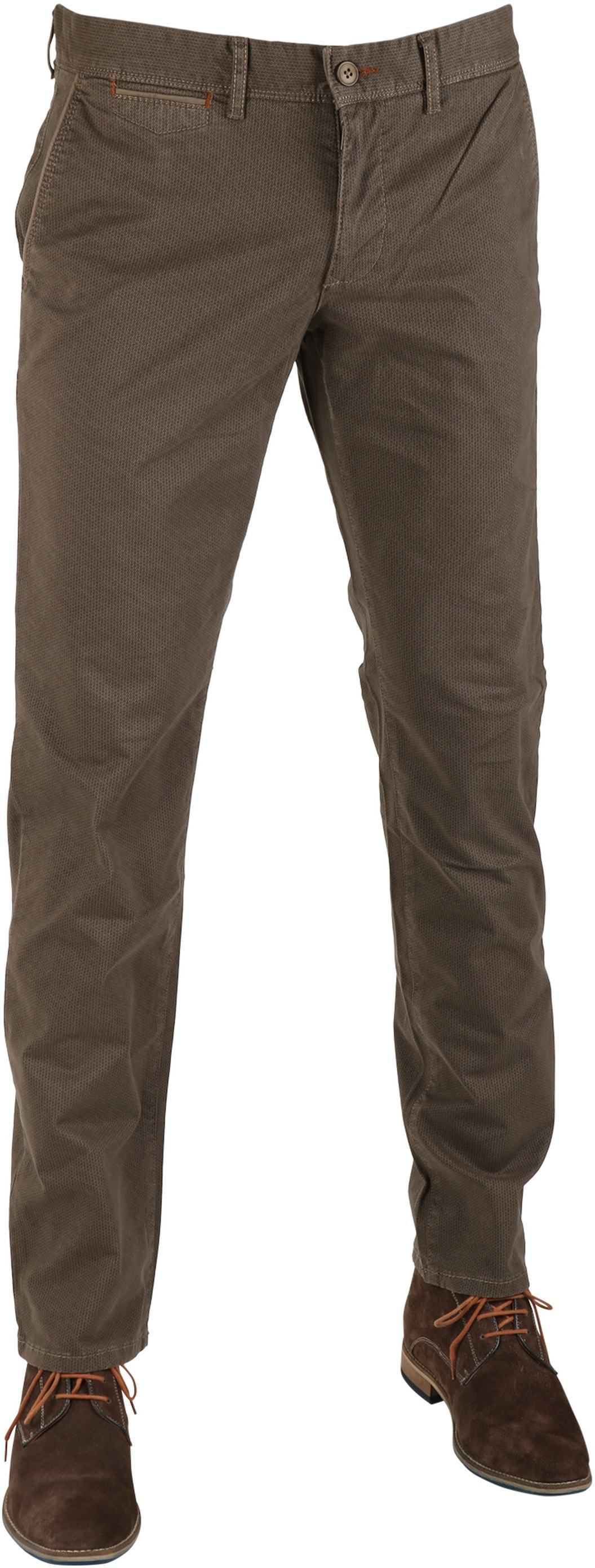 Suitable Chino Oakville Taupe Print foto 0