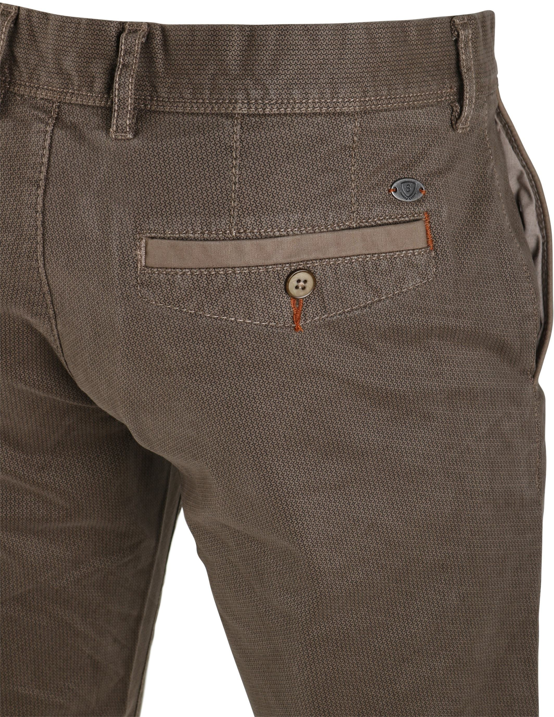 Suitable Chino Oakville Taupe Print foto 3