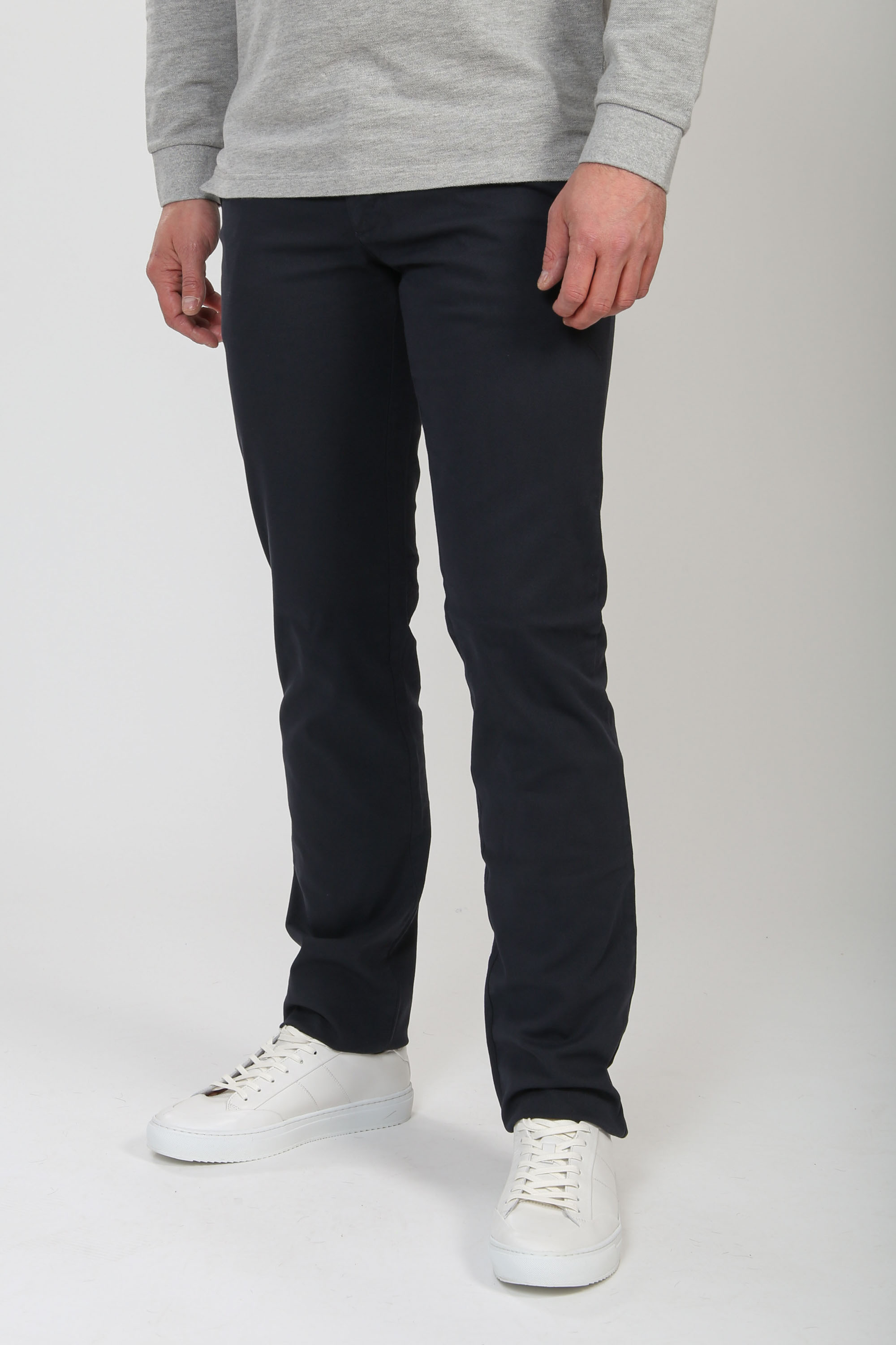 Suitable Chino Sartre Oxford Donkerblauw
