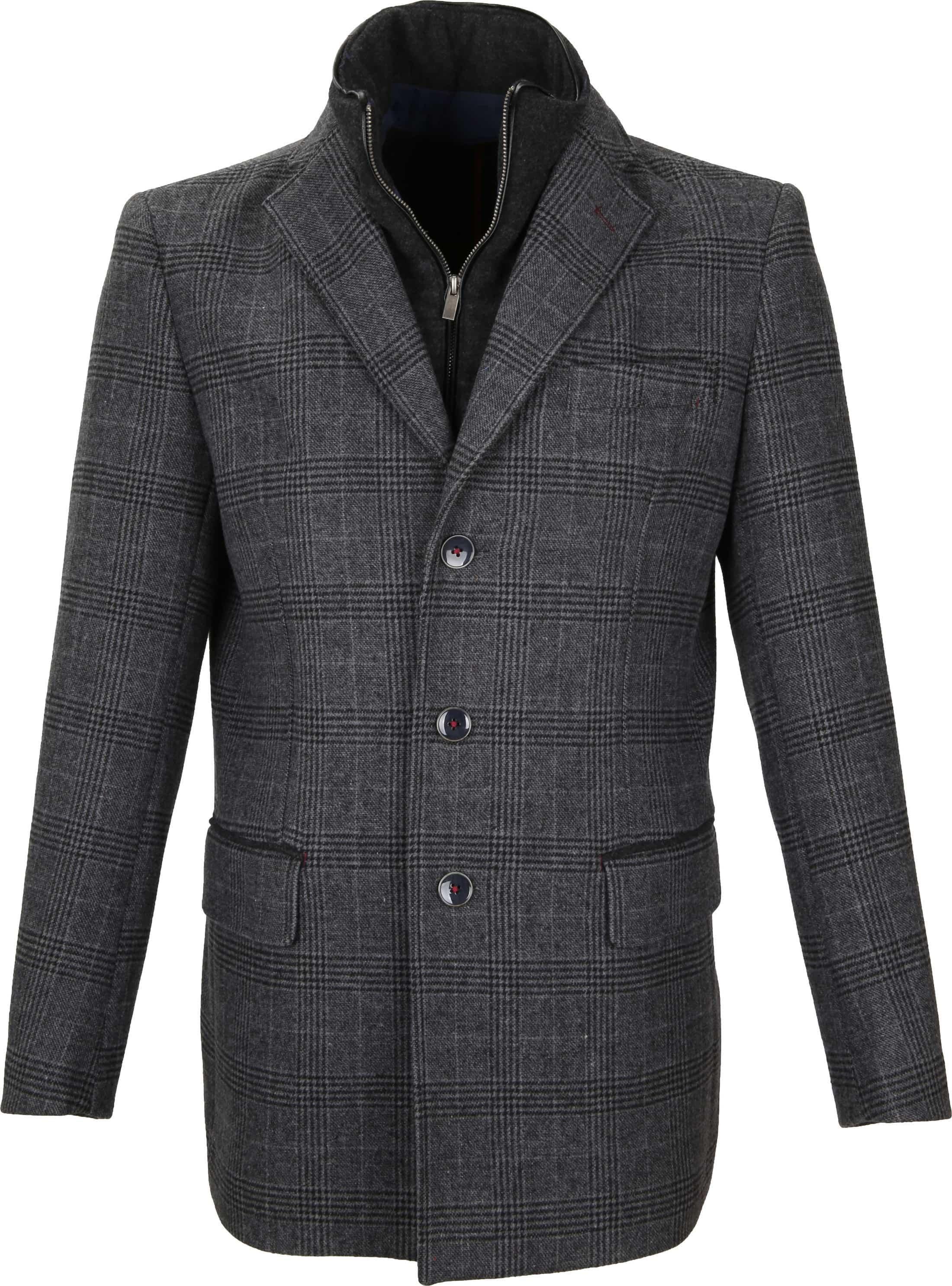 Suitable Coat Anton Antraciet foto 0
