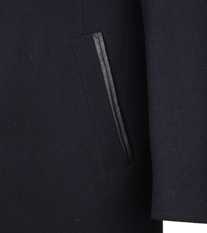 Suitable Coat Geke Inlay Dunkelblau foto 5