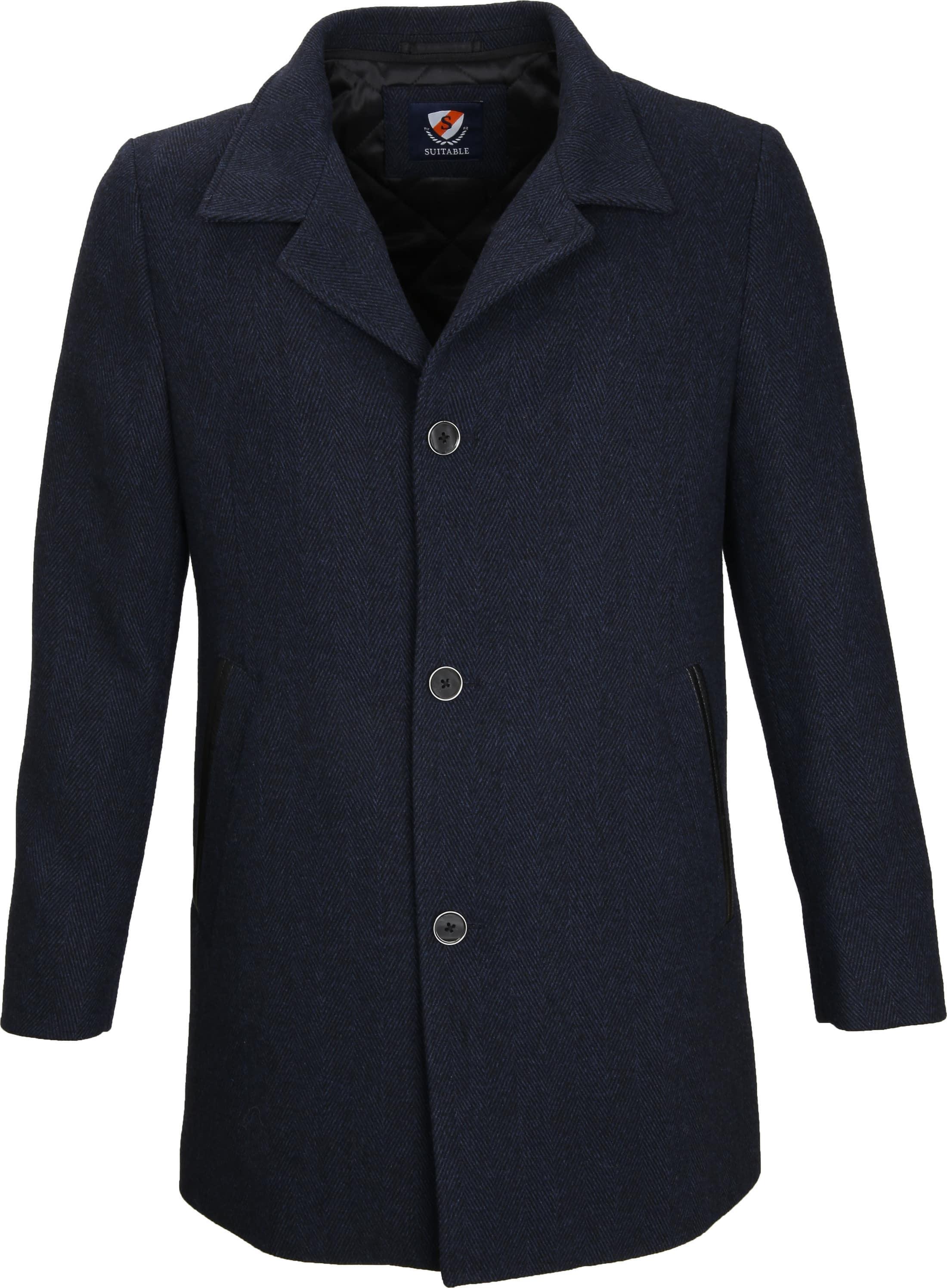 Suitable Coat Geke Inlay Indigo foto 1