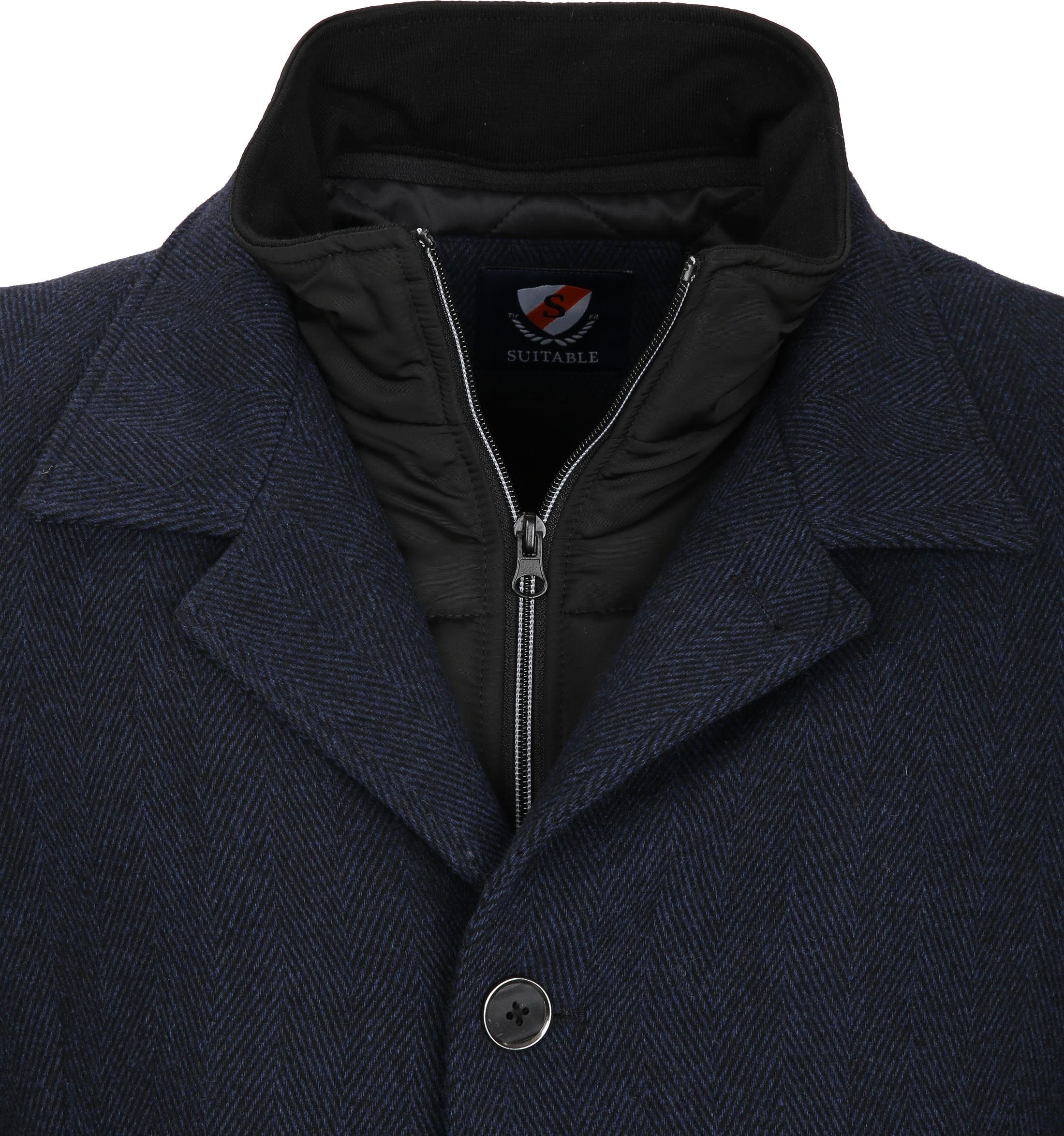 Suitable Coat Geke Inlay Indigo foto 2