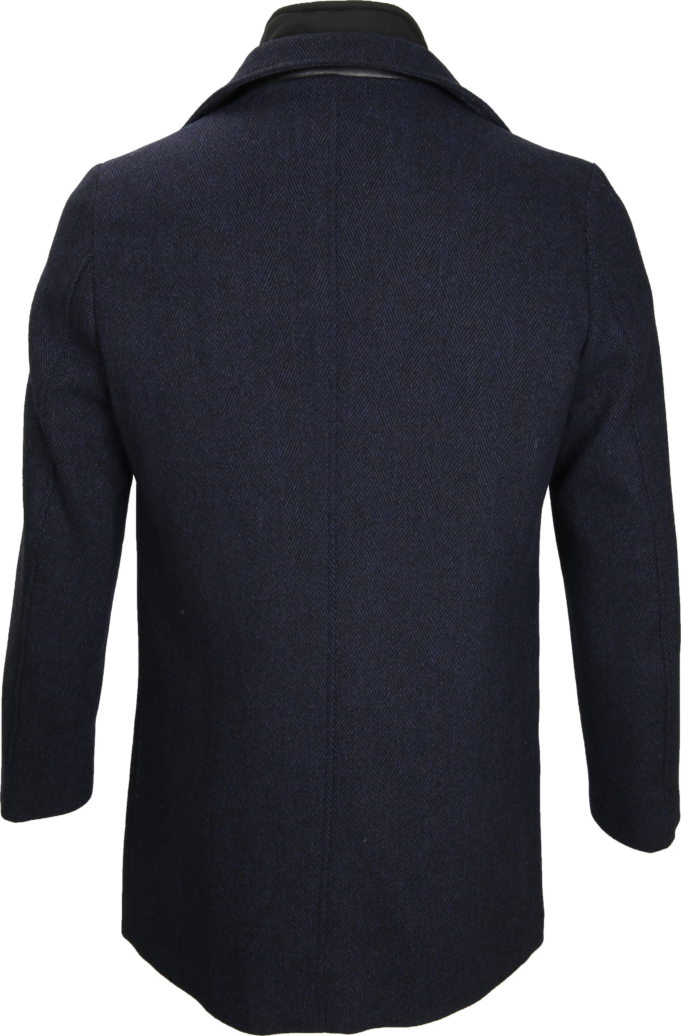 Suitable Coat Geke Inlay Indigo foto 5