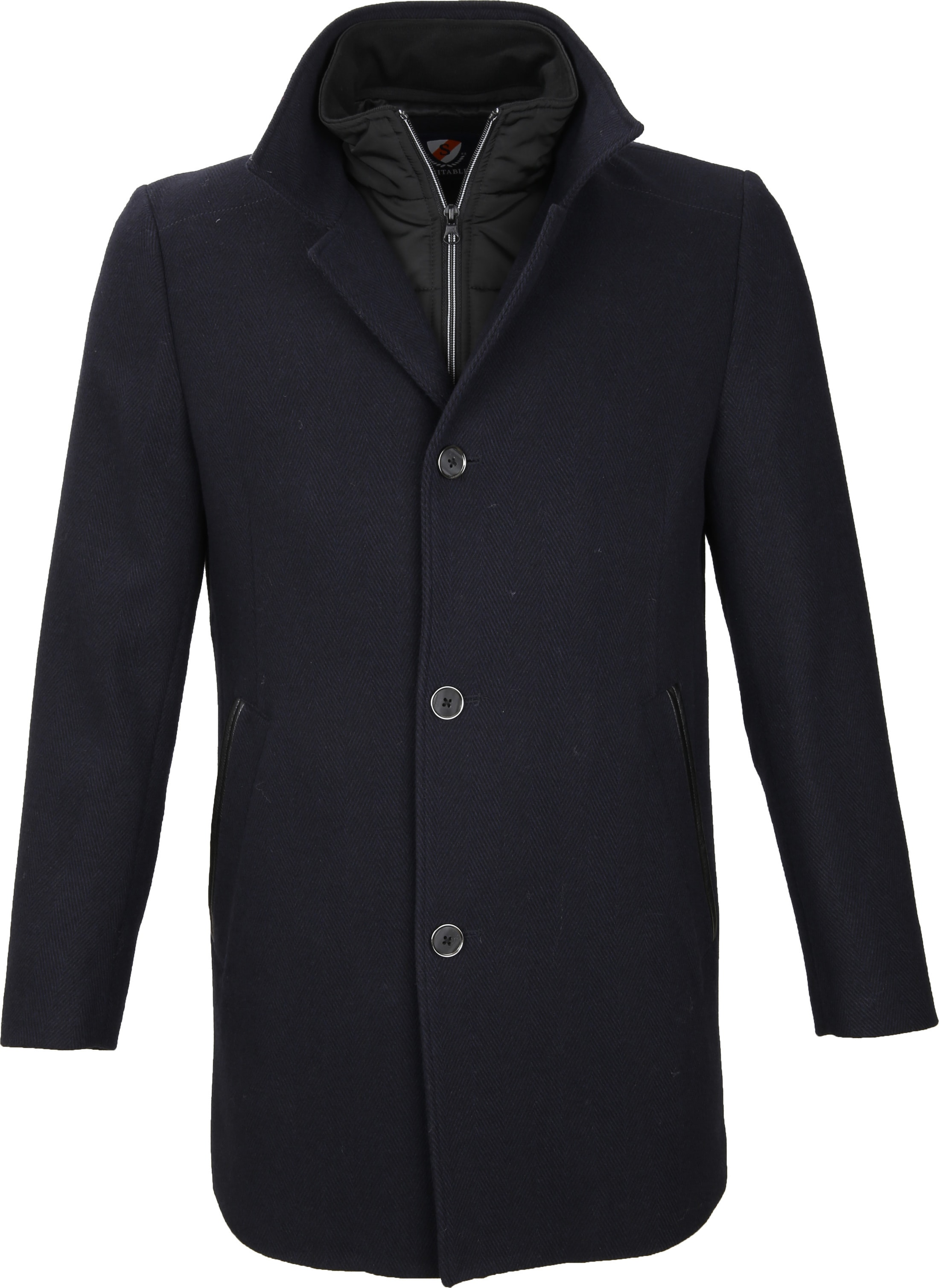 Suitable Coat Geke Inlay Navy foto 0