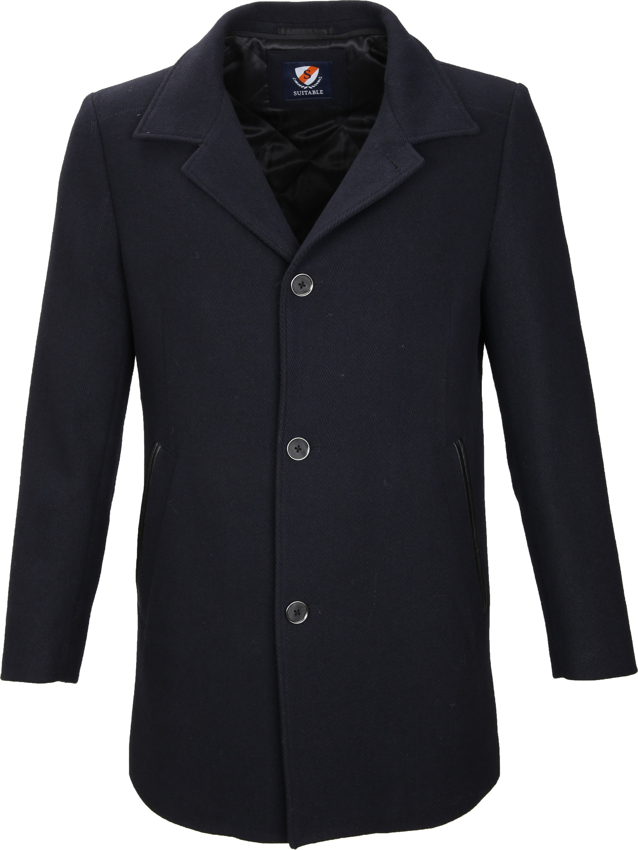 Suitable Coat Geke Inlay Navy foto 1