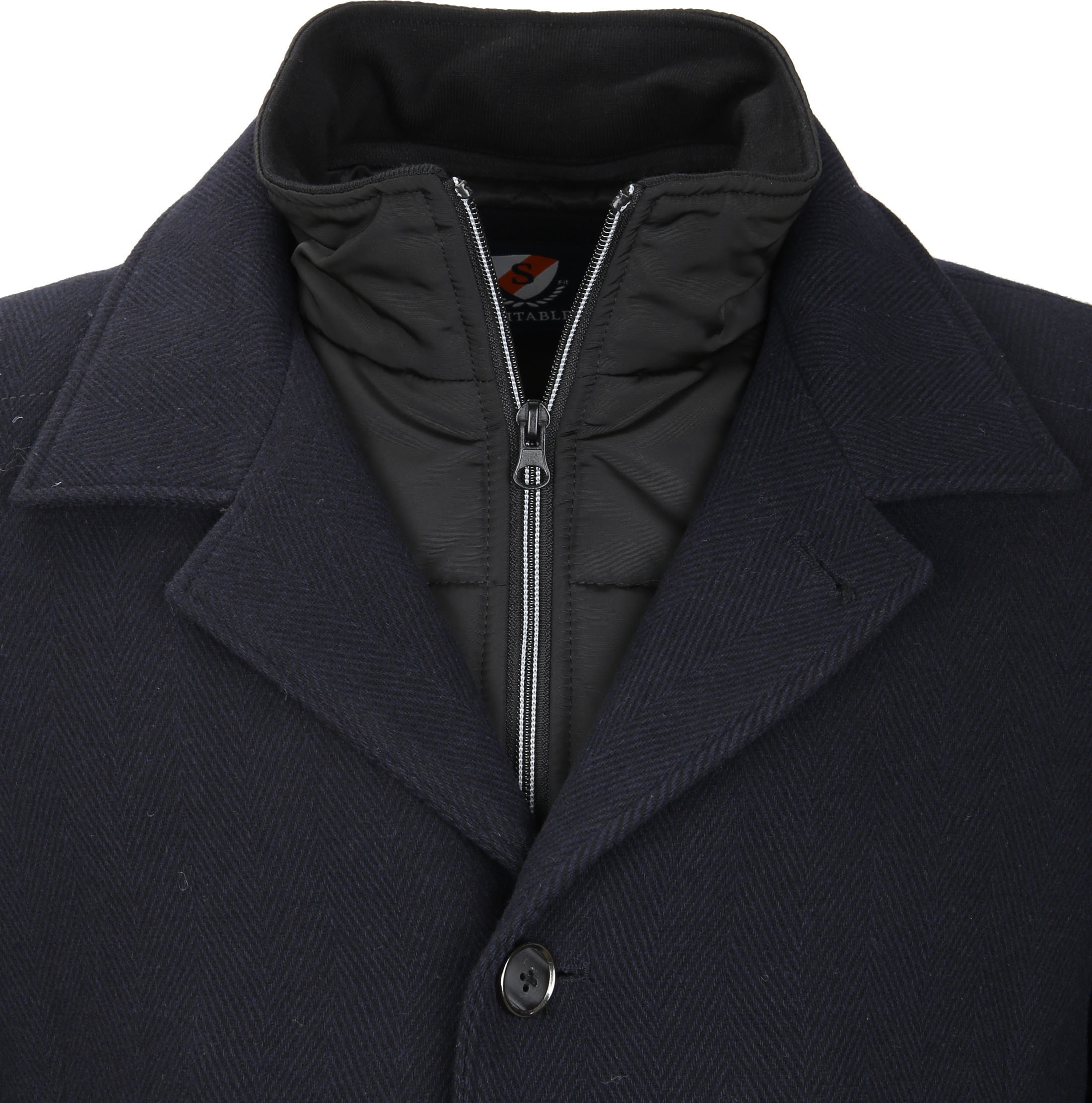 Suitable Coat Geke Inlay Navy foto 2