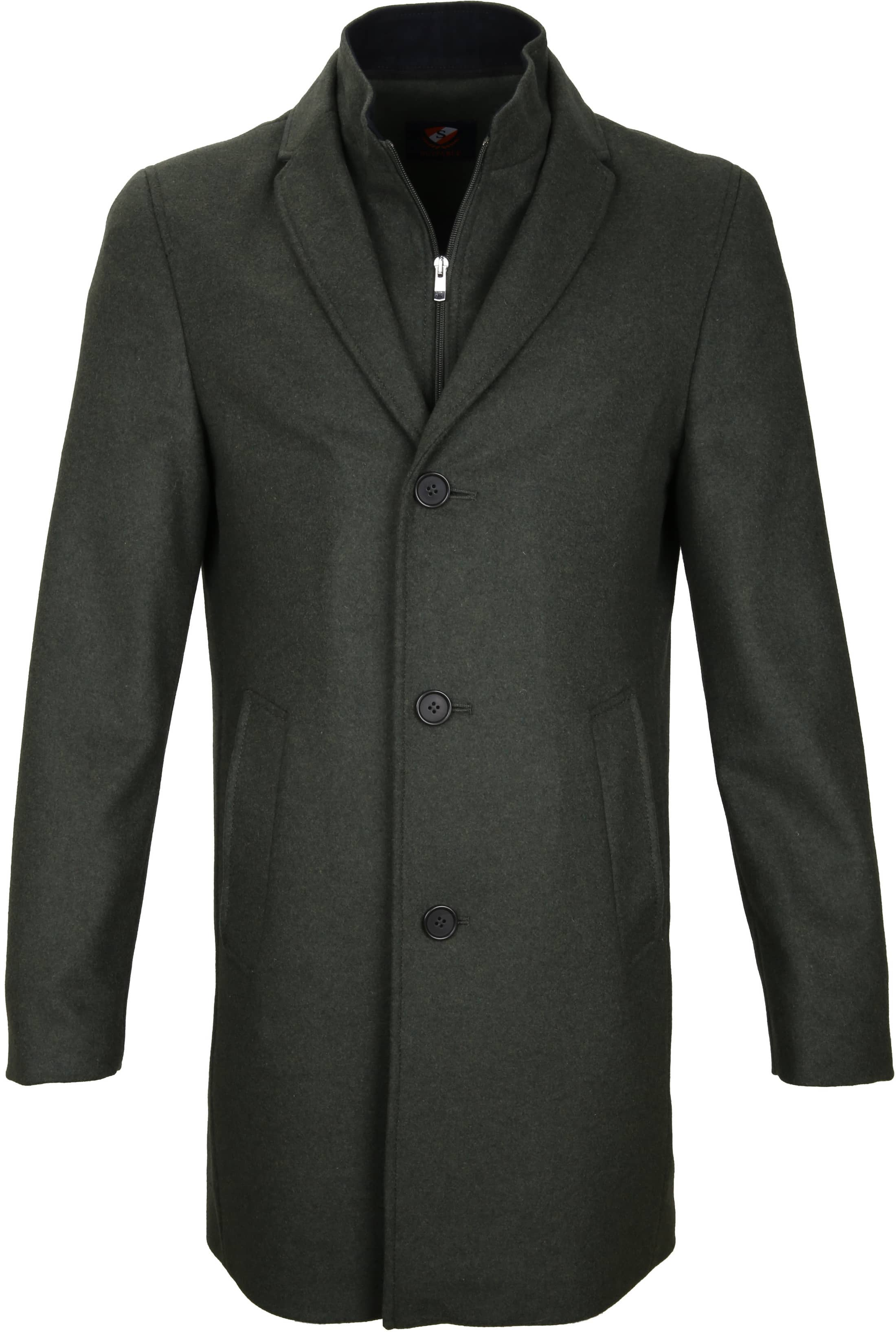 Suitable Coat Hans Melton Dark Green foto 0