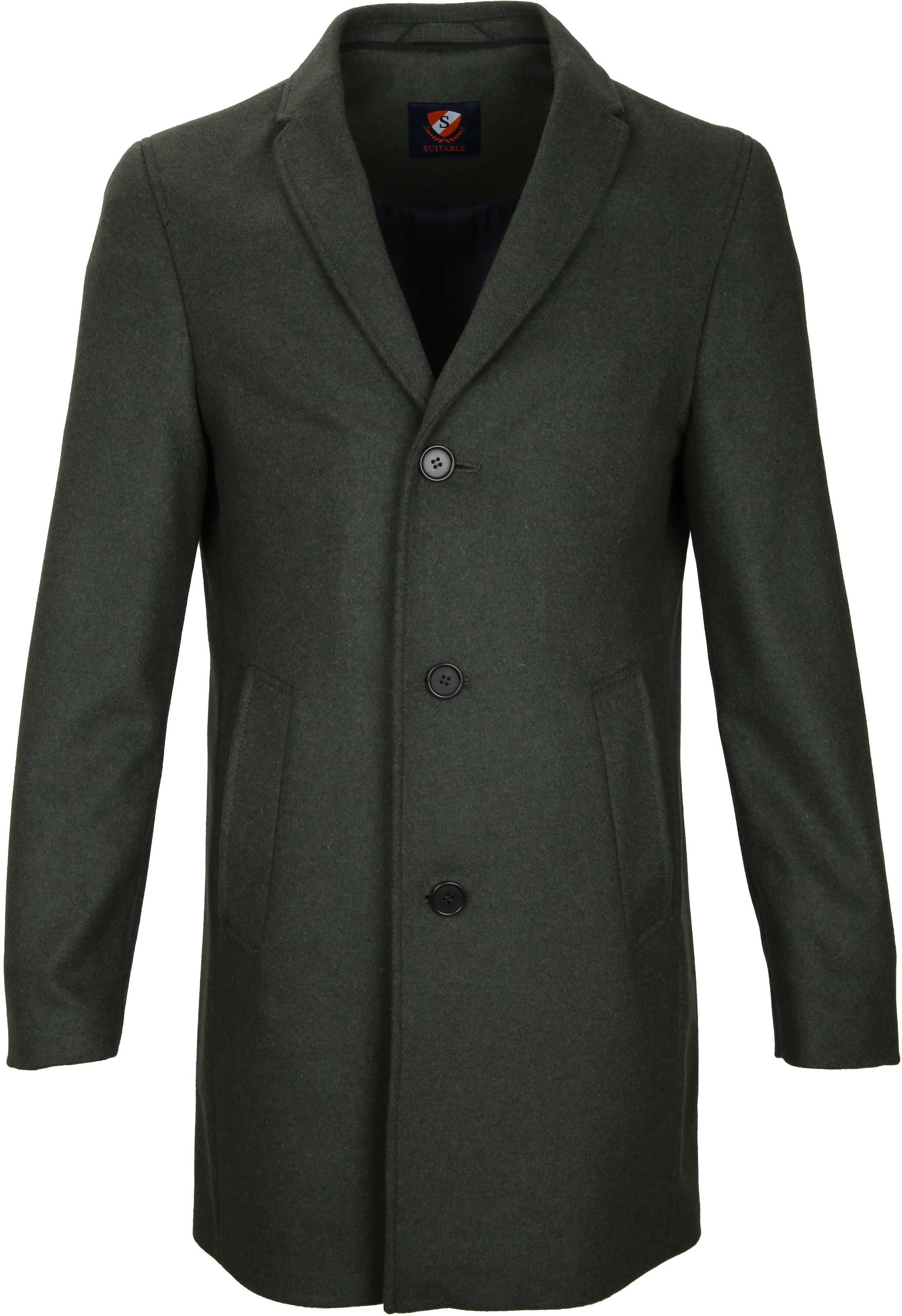 Suitable Coat Hans Melton Dark Green foto 1