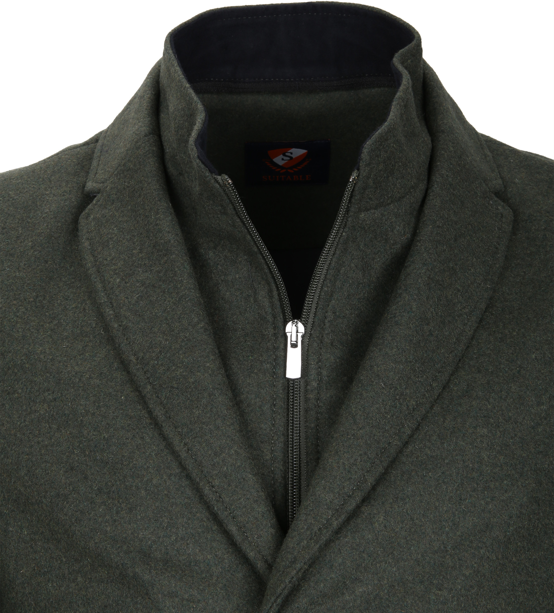 Suitable Coat Hans Melton Dark Green foto 2
