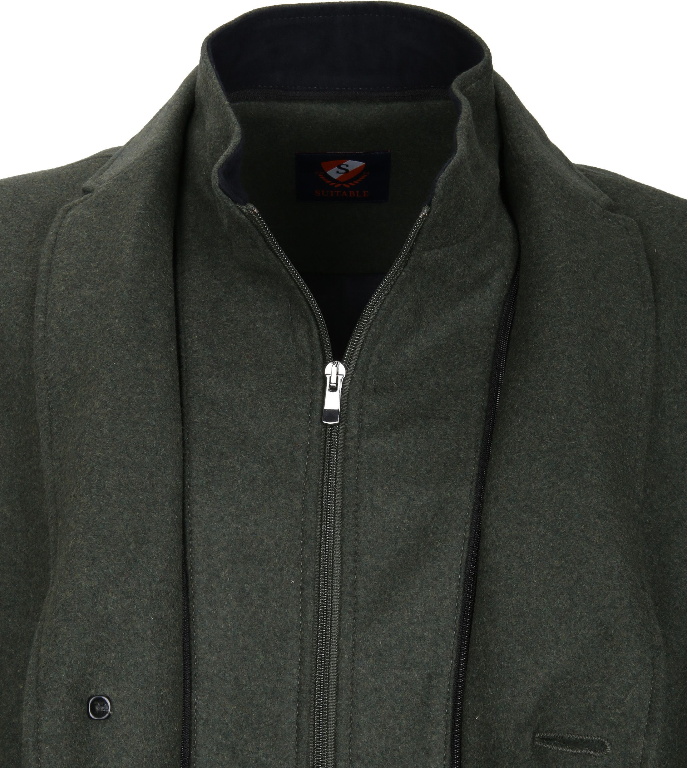 Suitable Coat Hans Melton Dark Green foto 3