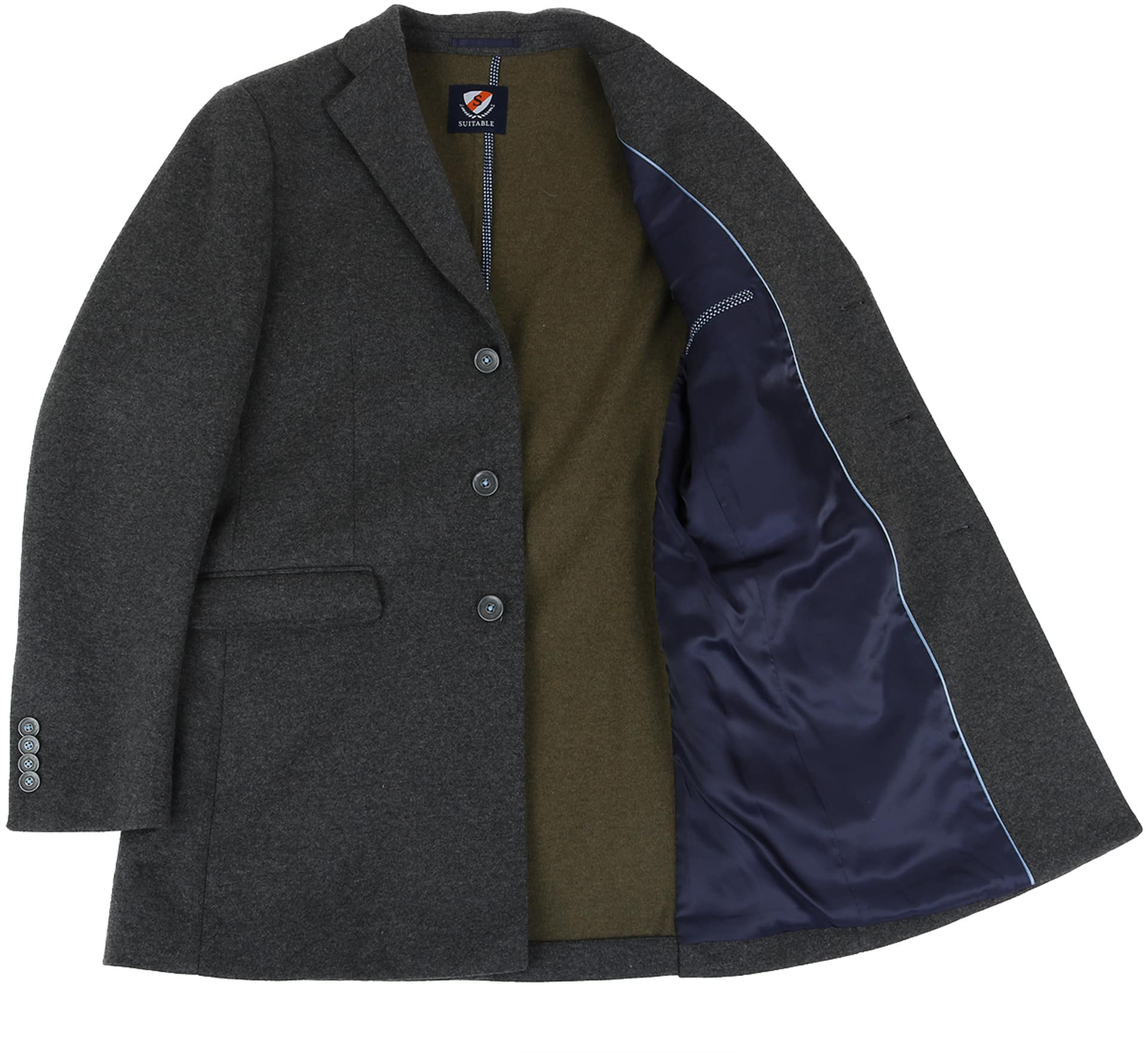 Suitable Coat Hendrik Antraciet foto 4