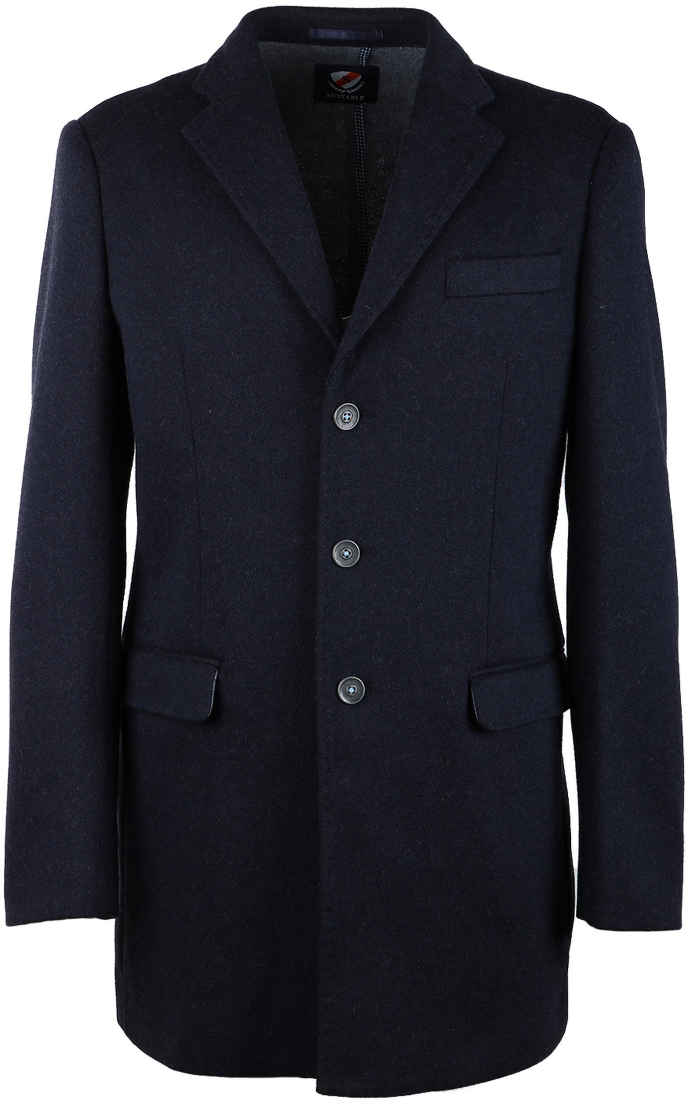 Suitable Coat Hendrik Donkerblauw foto 0