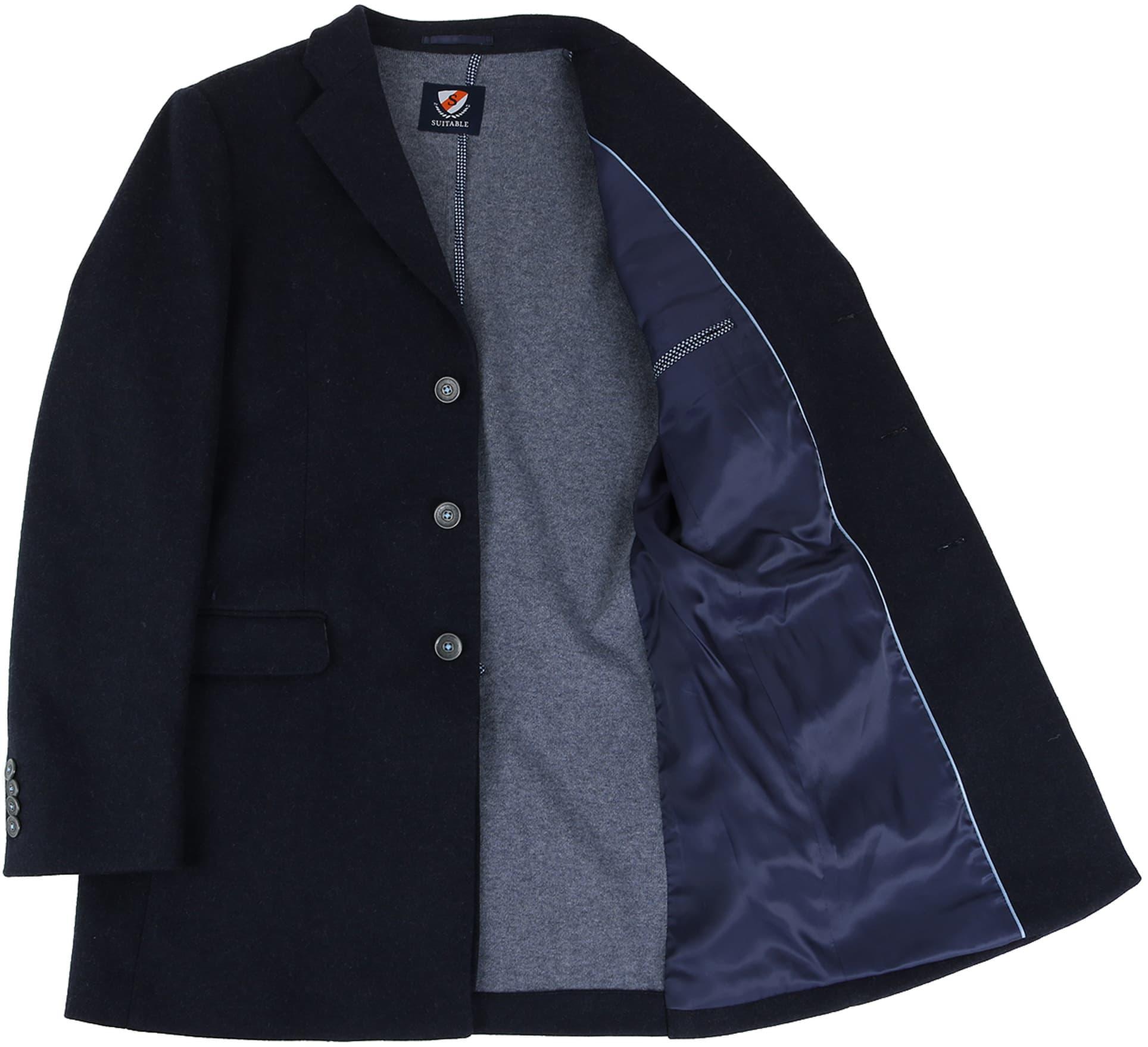 Suitable Coat Hendrik Donkerblauw foto 4