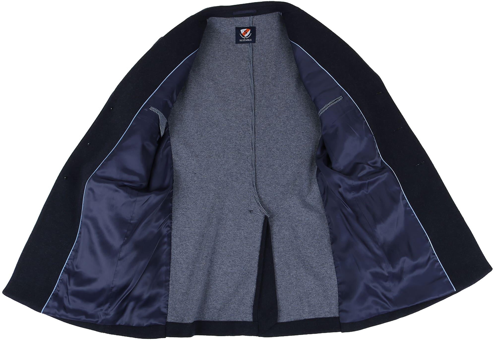 Suitable Coat Hendrik Donkerblauw foto 5
