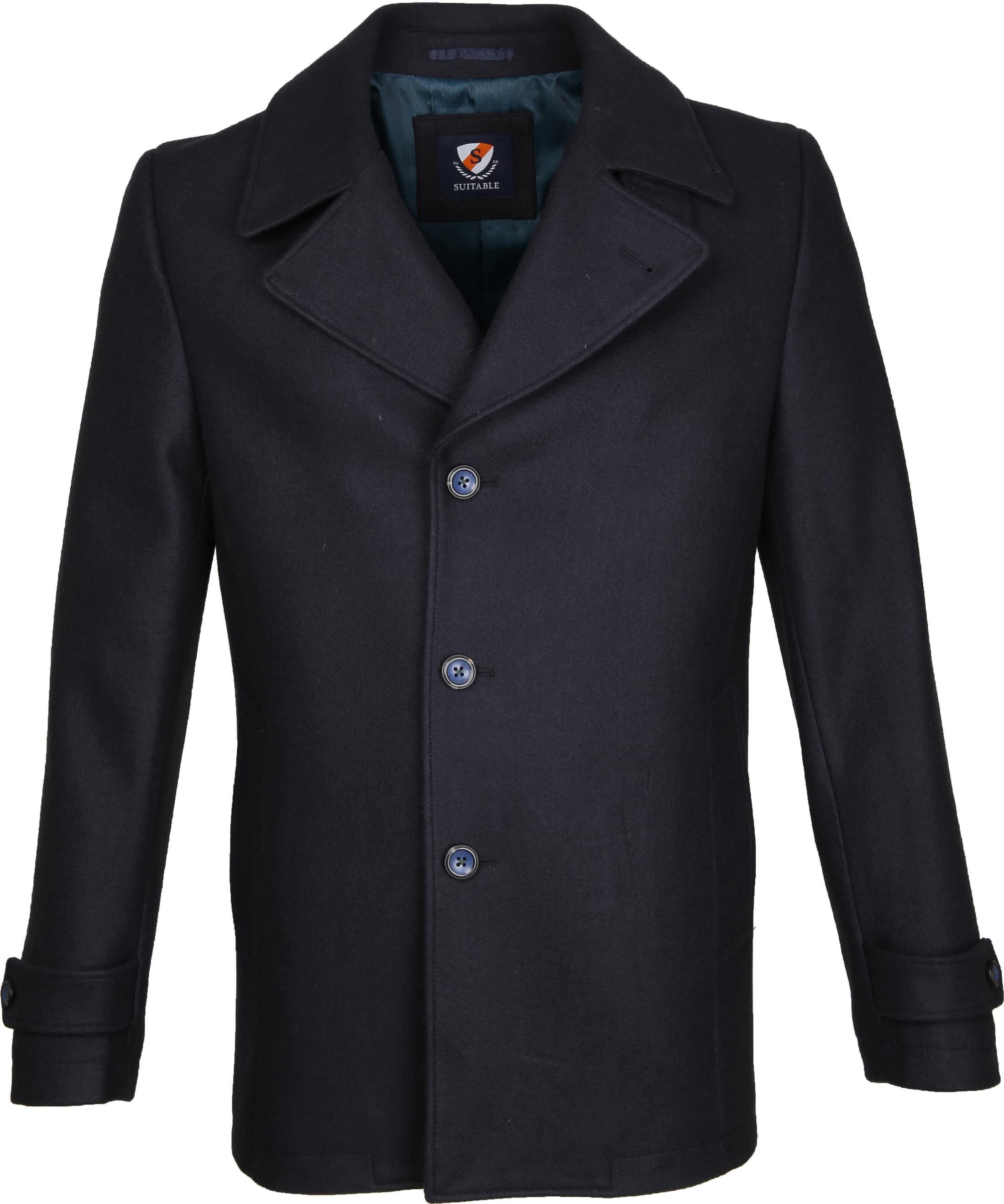 Suitable Coat Spaarne Dunkelblau foto 0