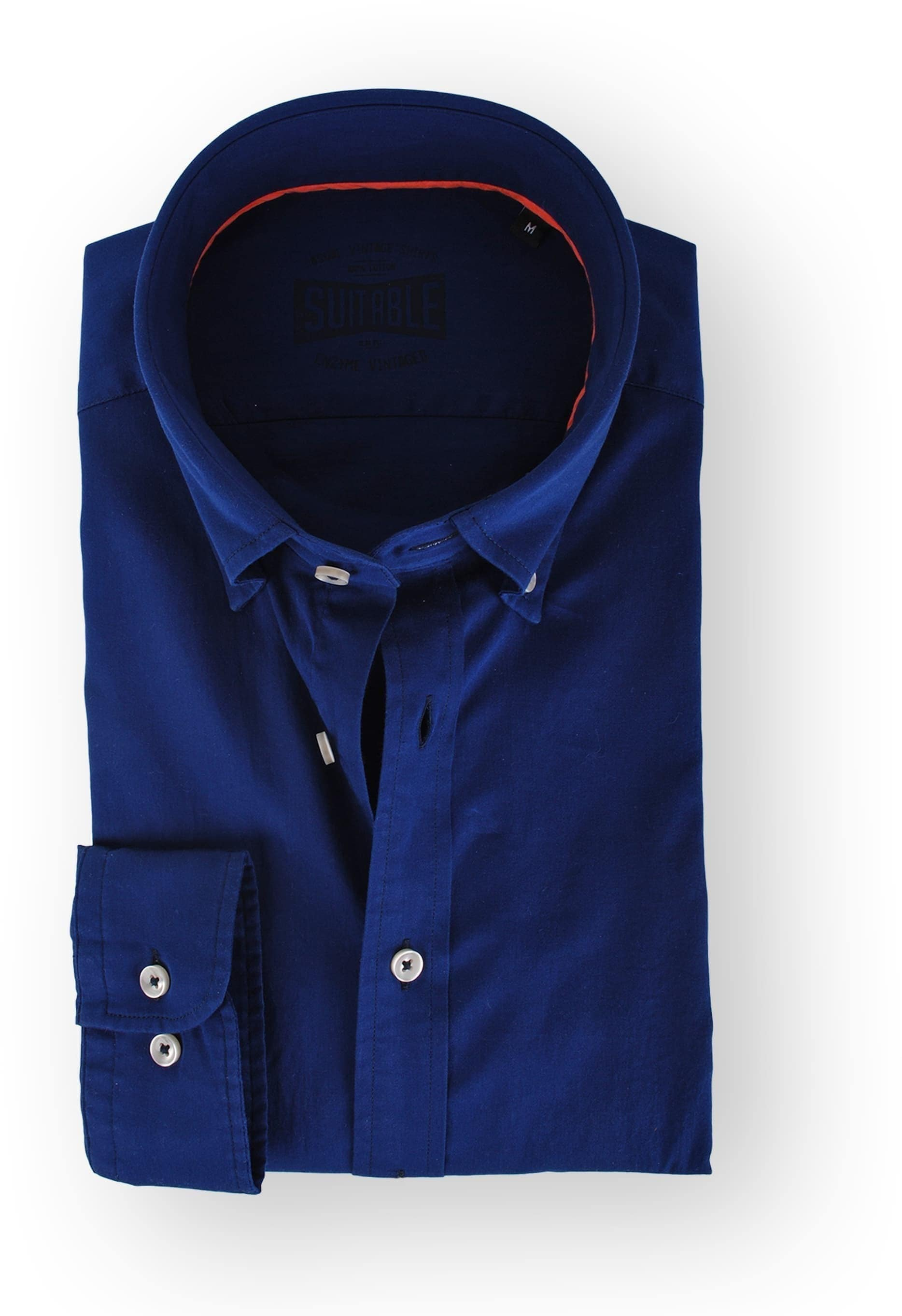 Suitable Dark Blue Casual Shirt