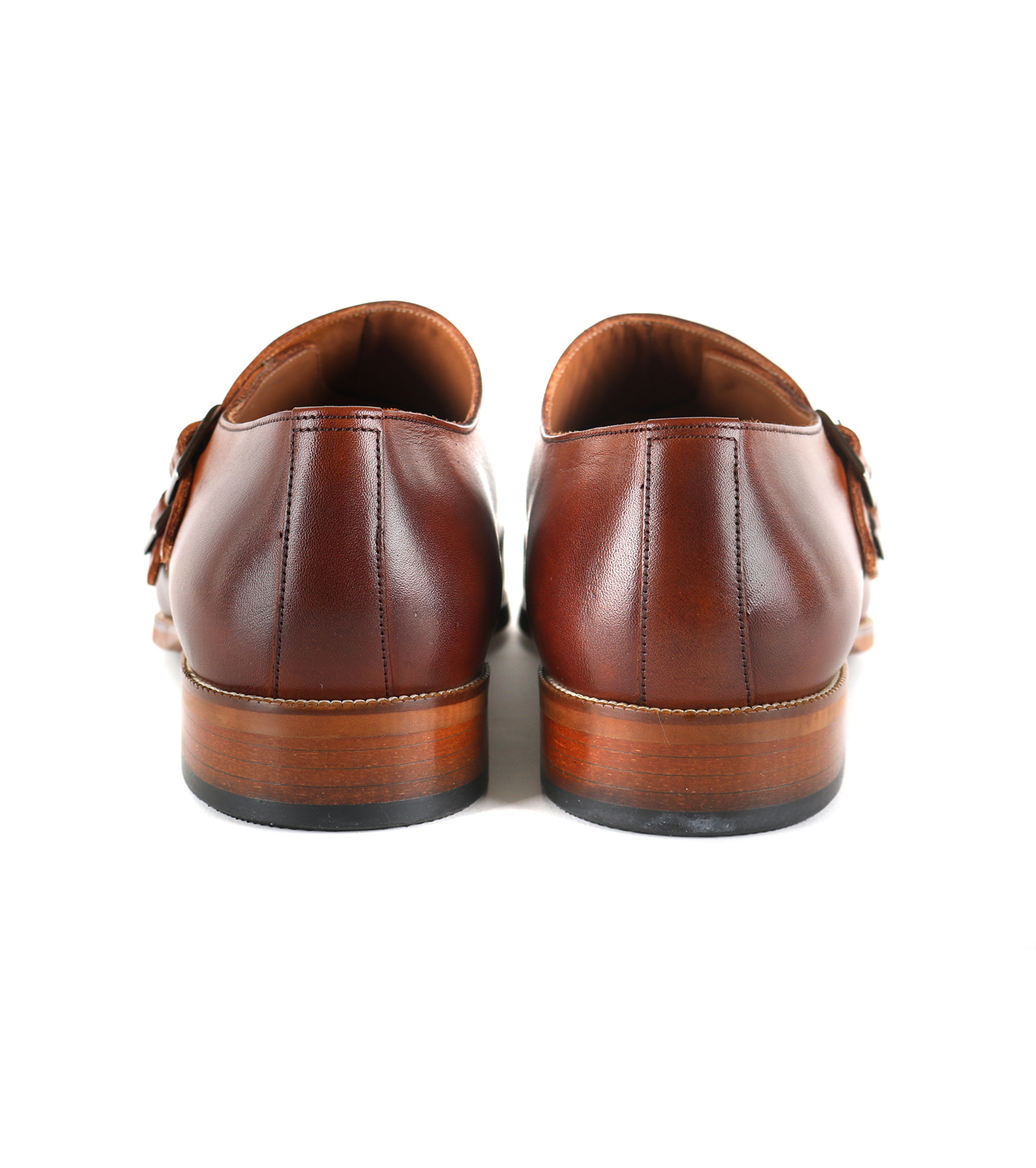 Suitable Double Monk Strap Schoen Cognac foto 3
