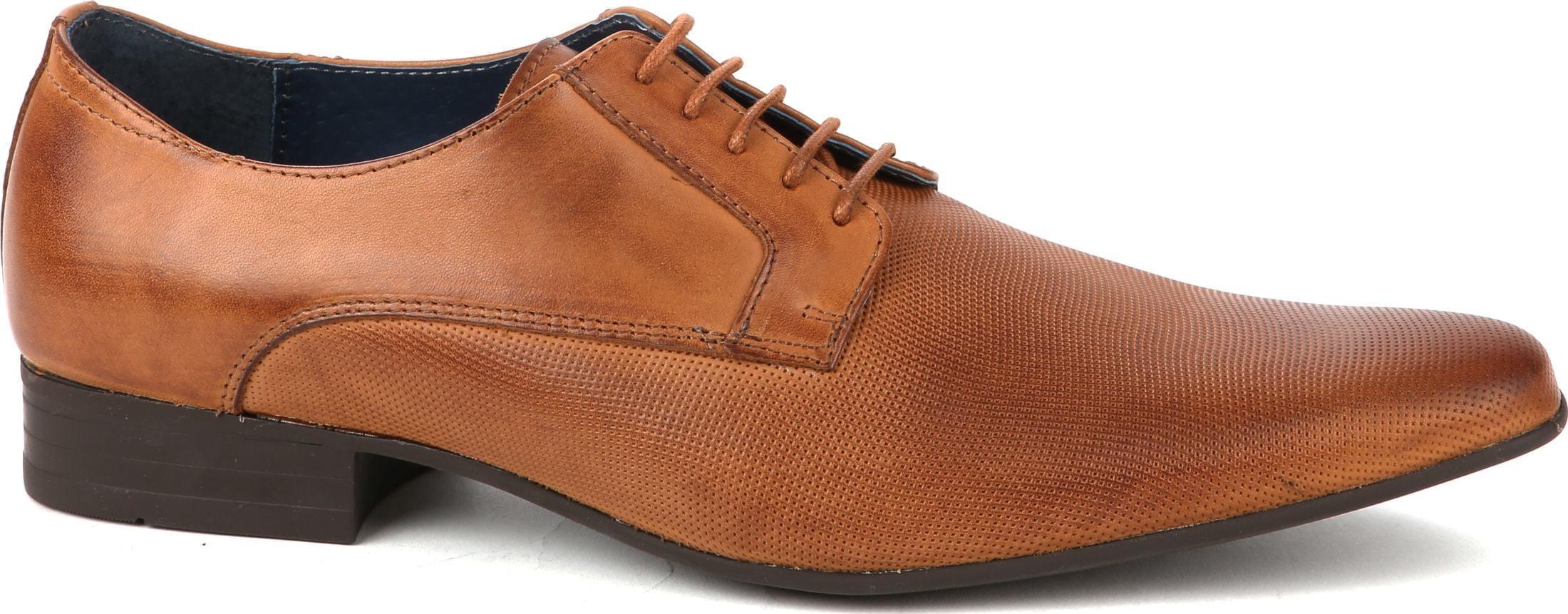 Suitable Dress Shoes Derby Cognac foto 0