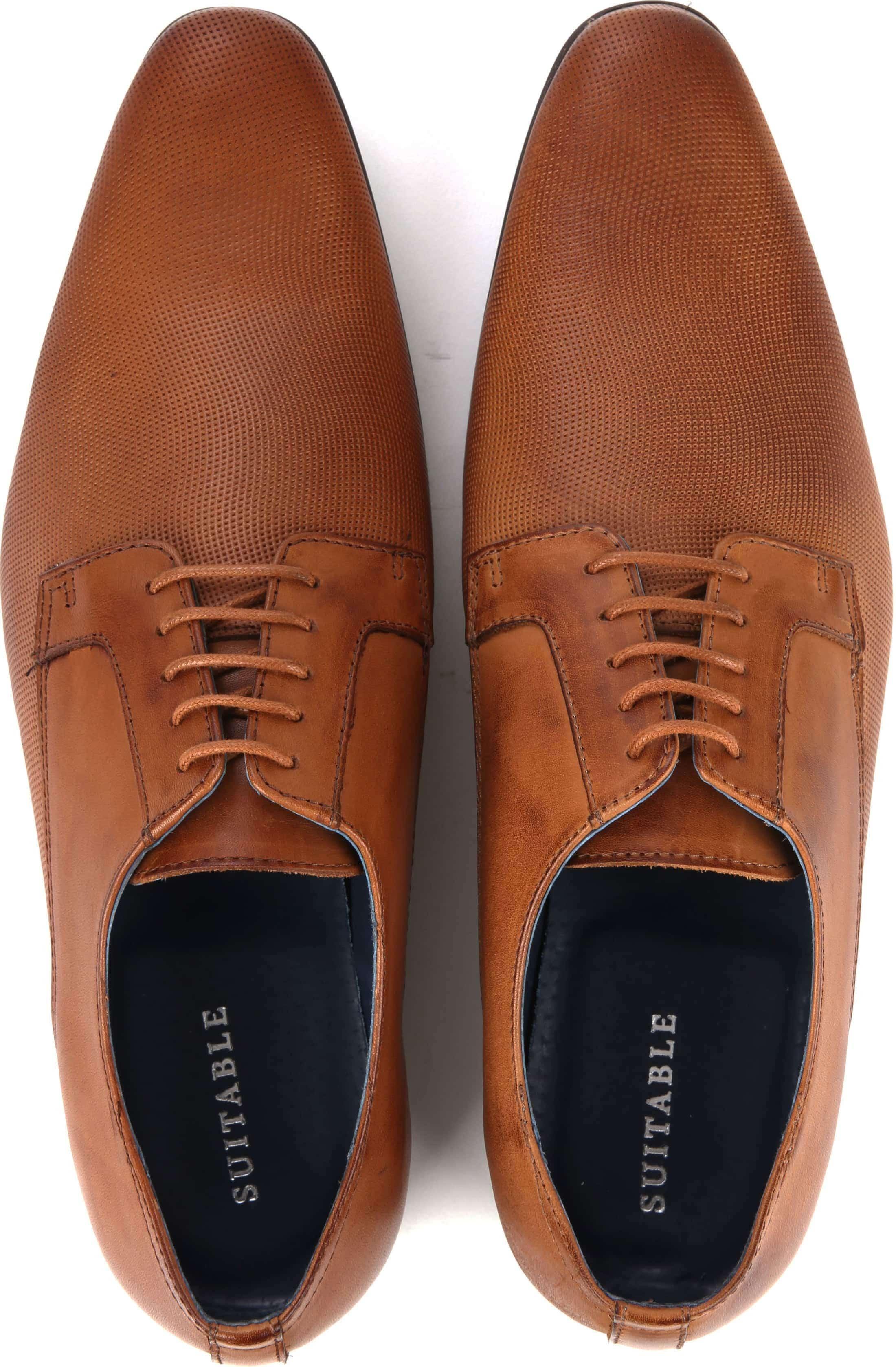 Suitable Dress Shoes Derby Cognac foto 2