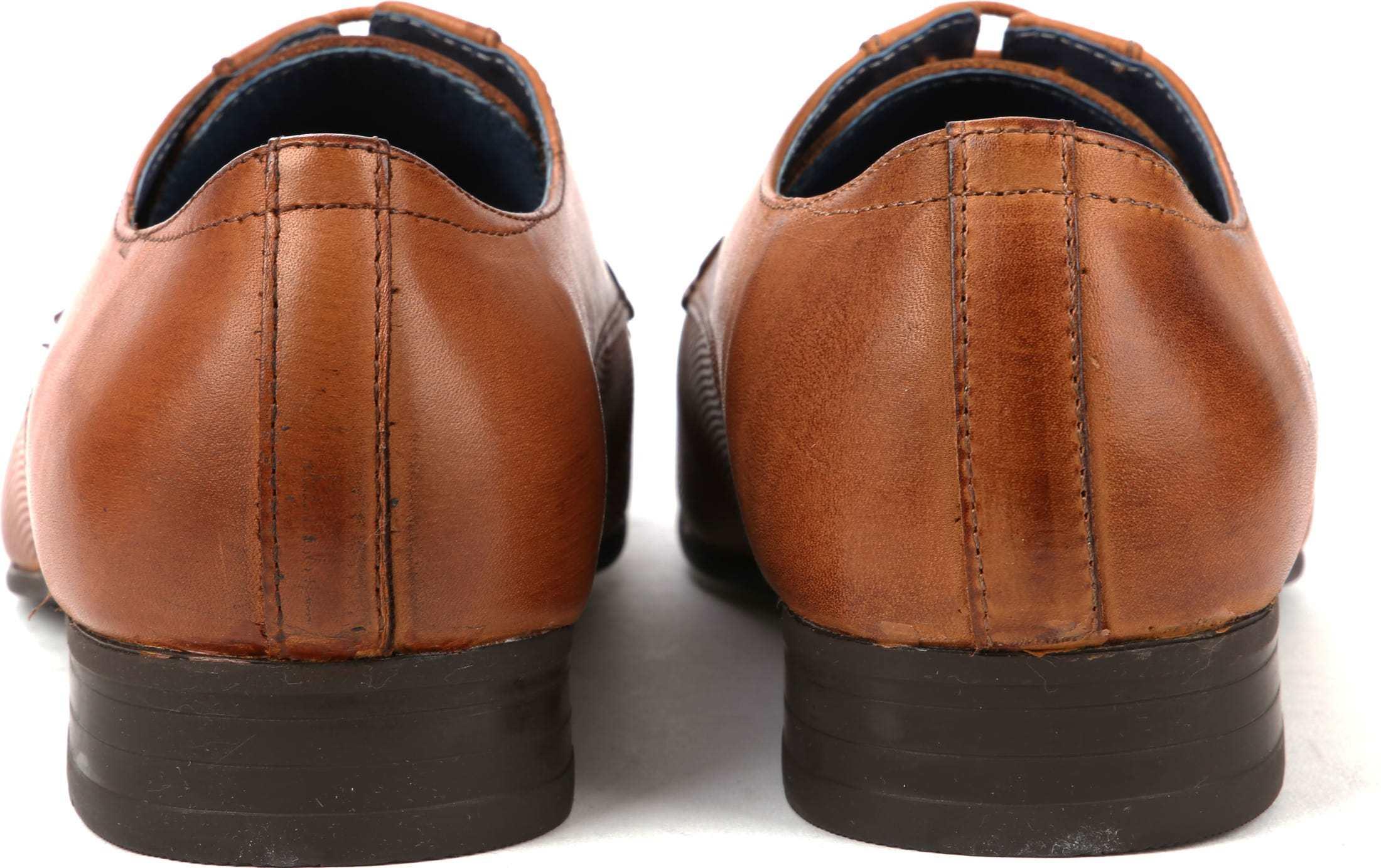 Suitable Dress Shoes Derby Cognac foto 3